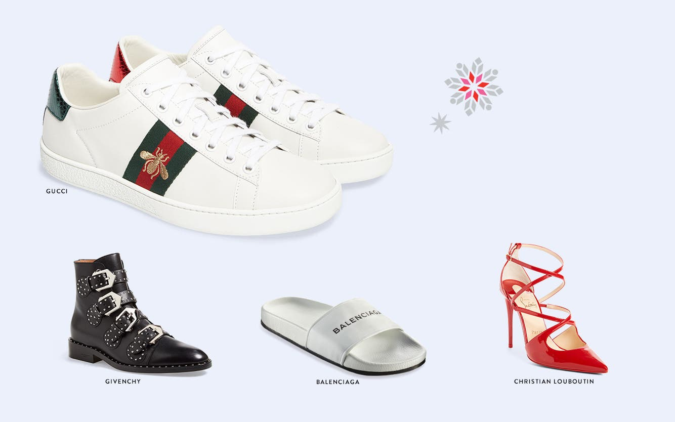 Designer holiday gifts: shoes.