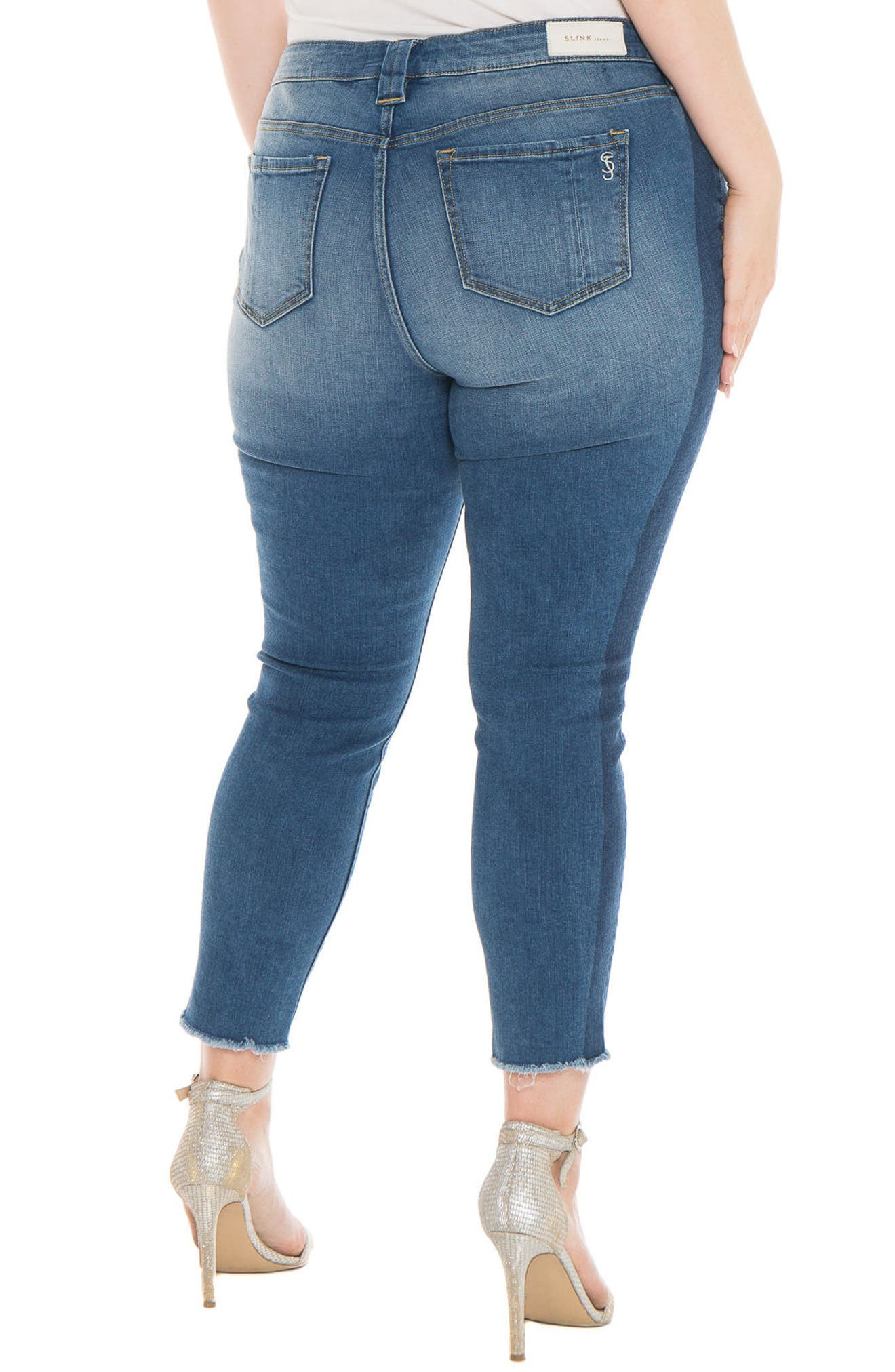 Shadow Mix Frayed Ankle Jeans,                             Alternate thumbnail 2, color,                             GWEN