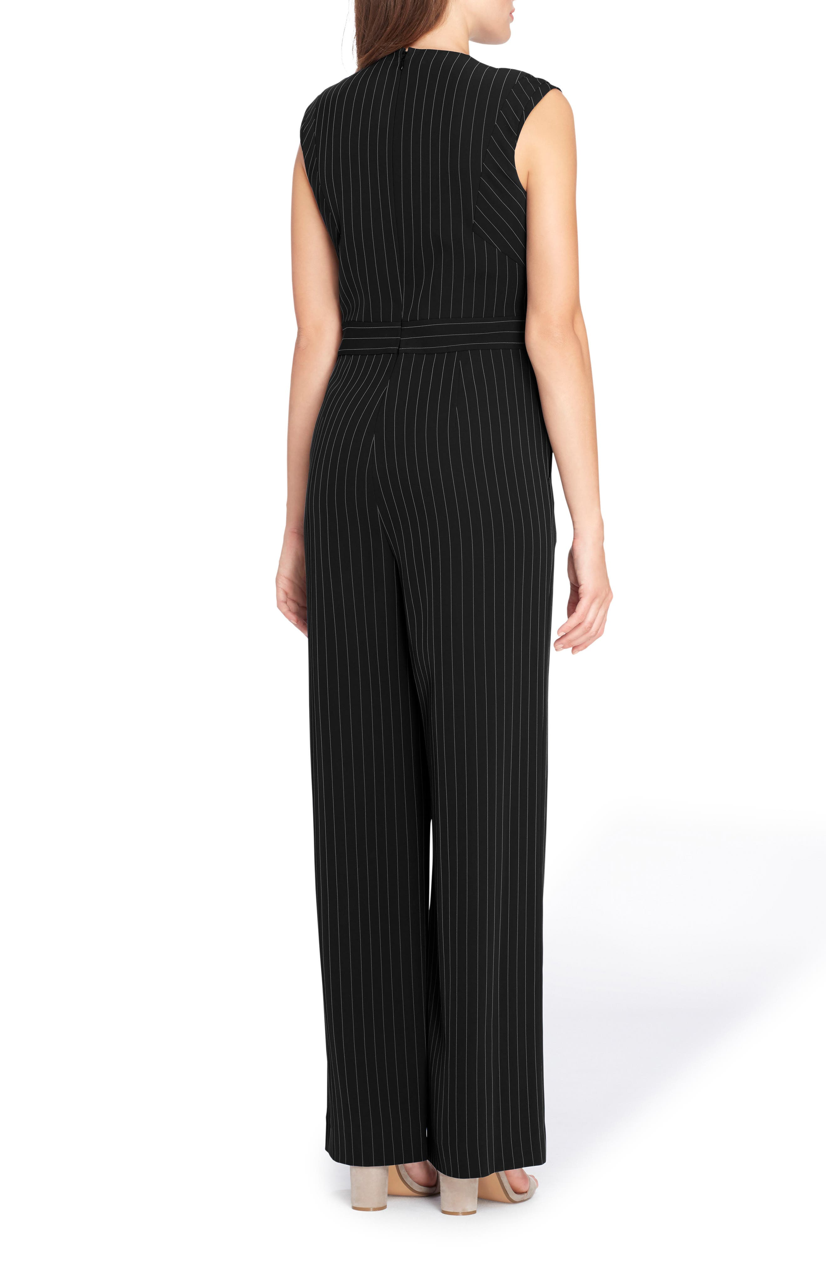 Pinstripe Jumpsuit,                             Alternate thumbnail 2, color,