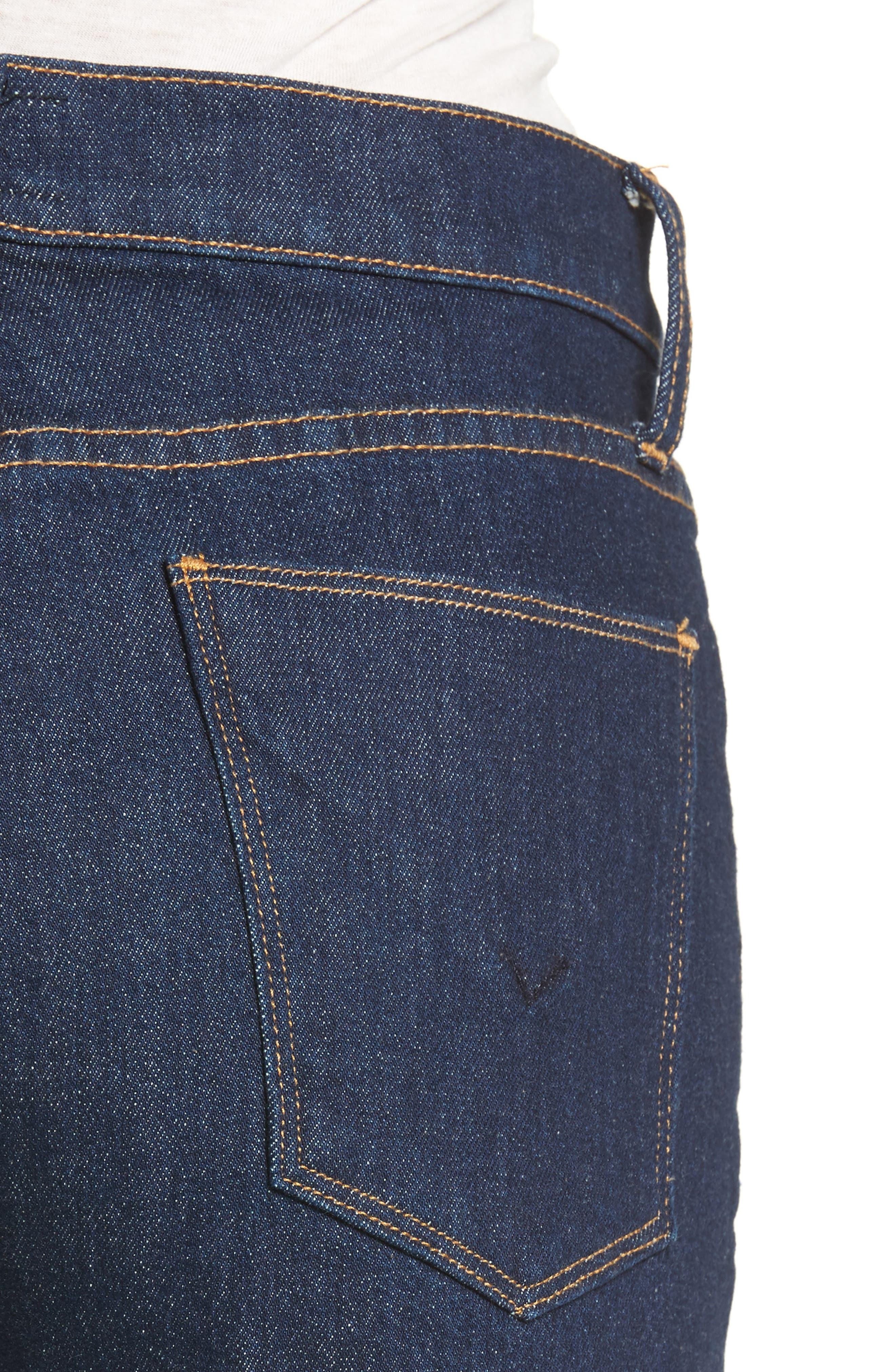 Zoeey High Waist Crop Straight Leg Jeans,                             Alternate thumbnail 11, color,