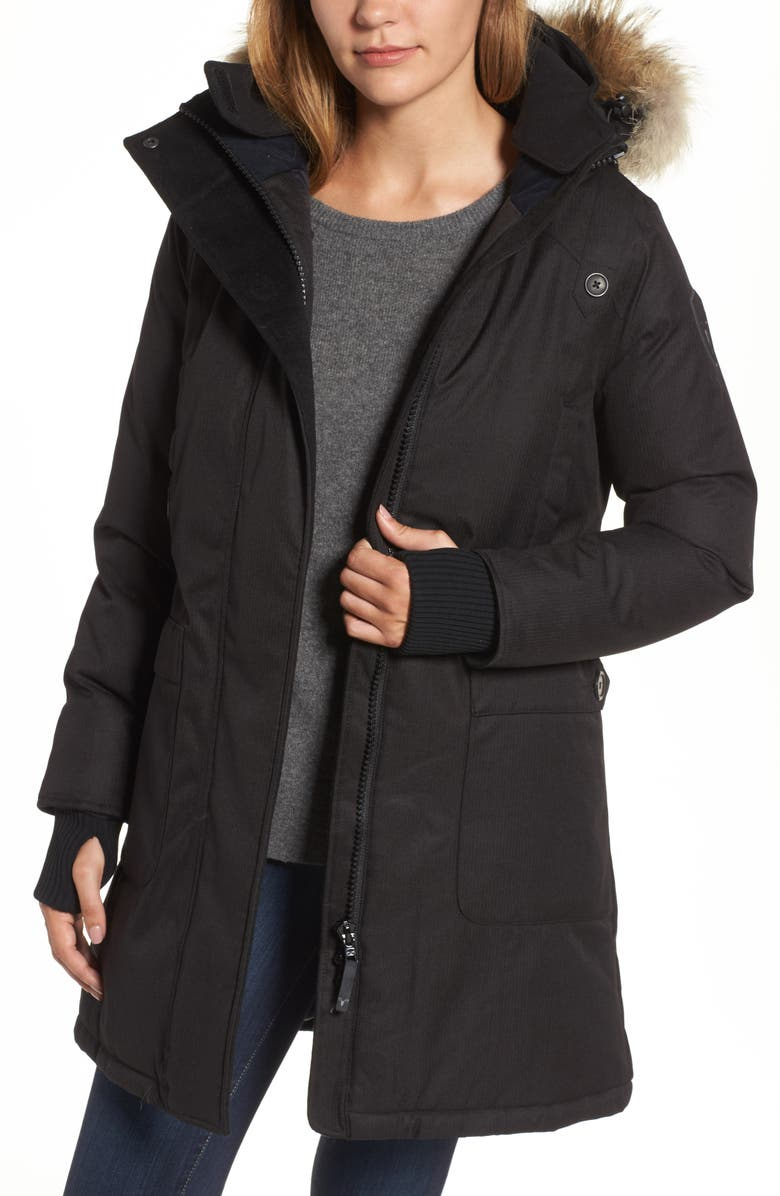 nobis Meredith Hooded Down Parka with Genuine Coyote Fur Trim ... 3326566010d7