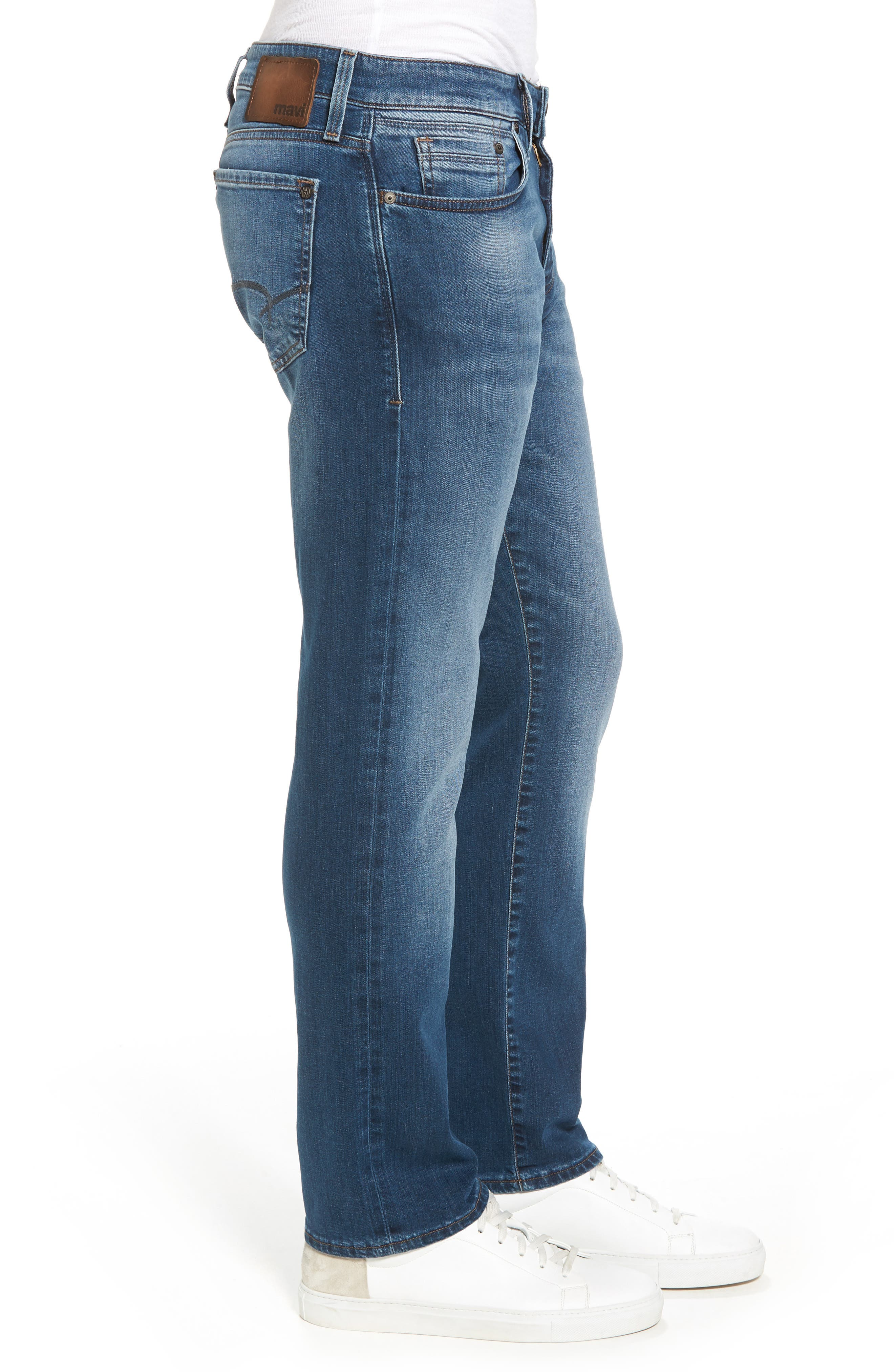 Zach Straight Fit Jeans,                             Alternate thumbnail 3, color,