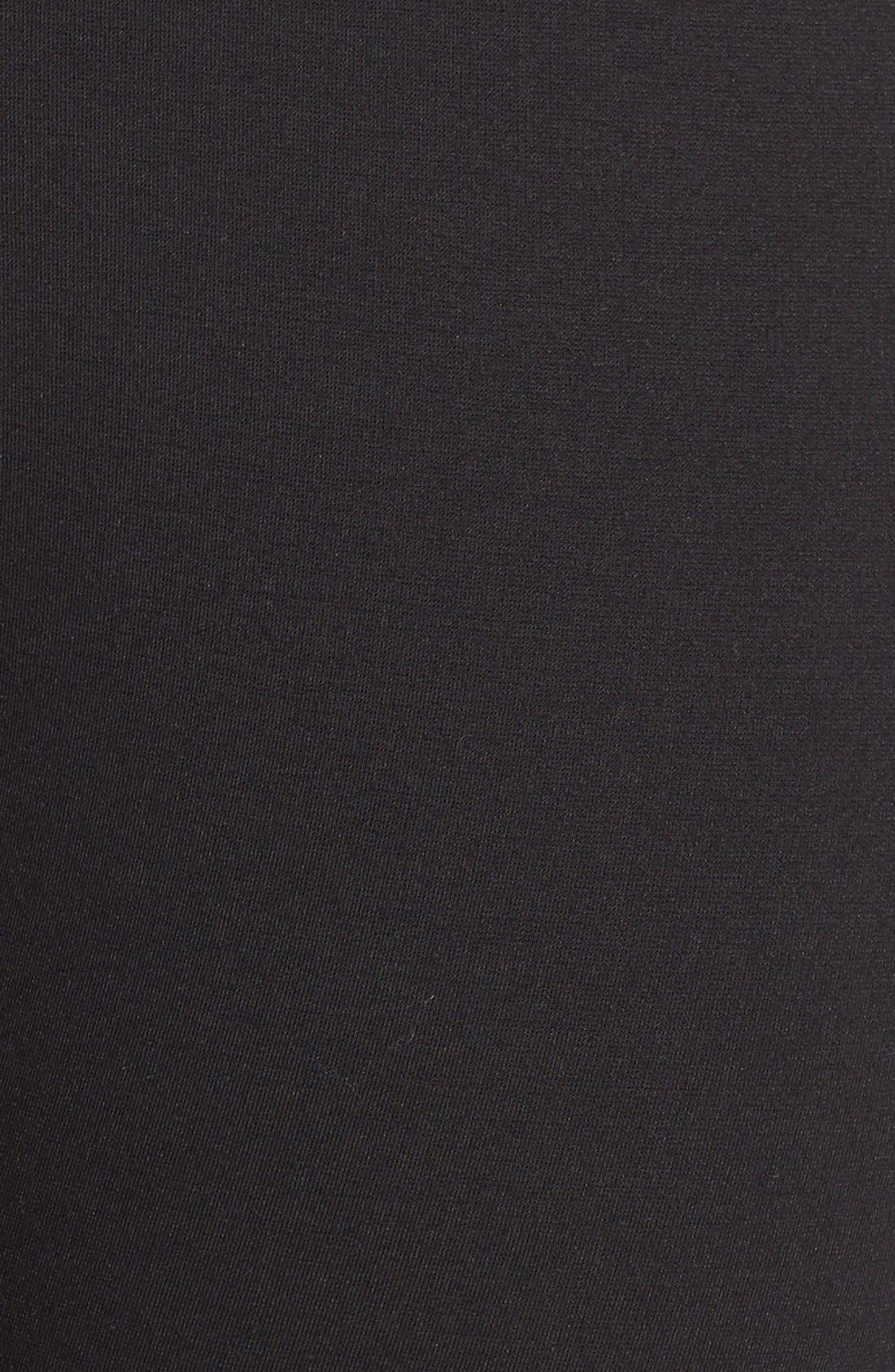 Ponte Leggings,                             Alternate thumbnail 2, color,                             BLACK