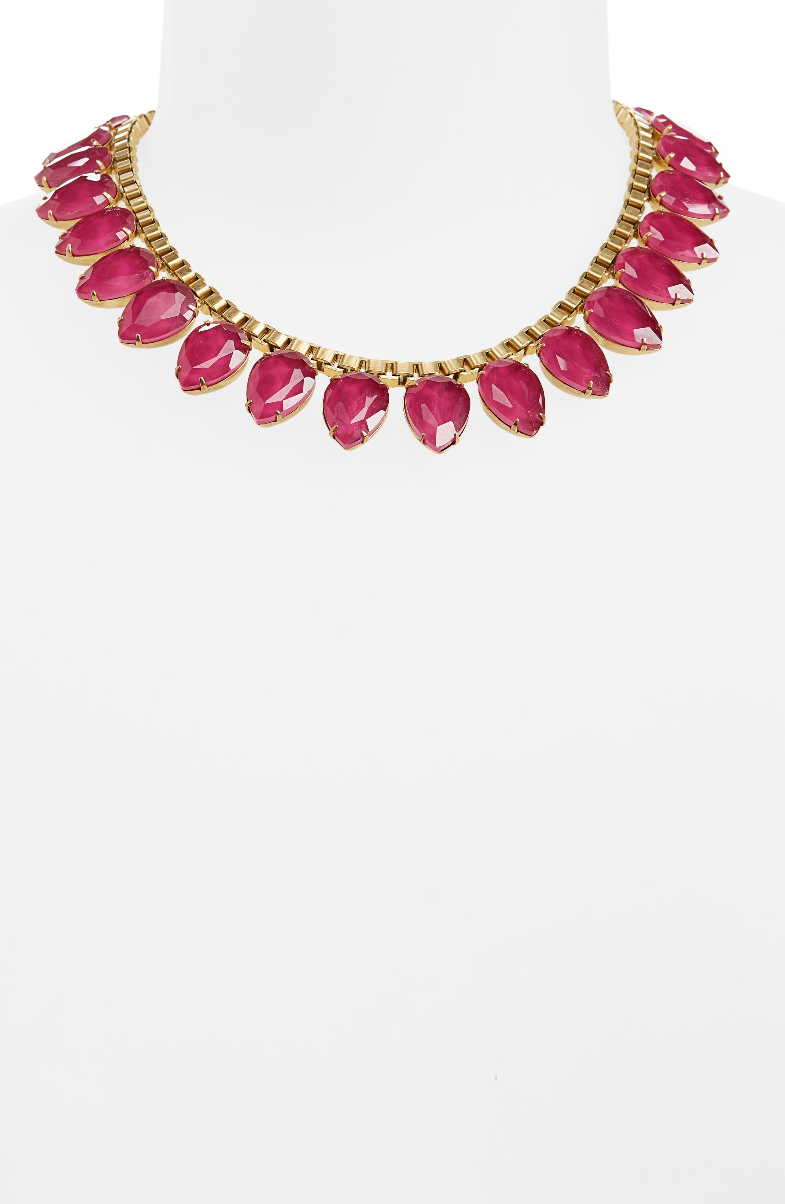 'Sylvia' Crystal Collar Necklace,                             Alternate thumbnail 18, color,