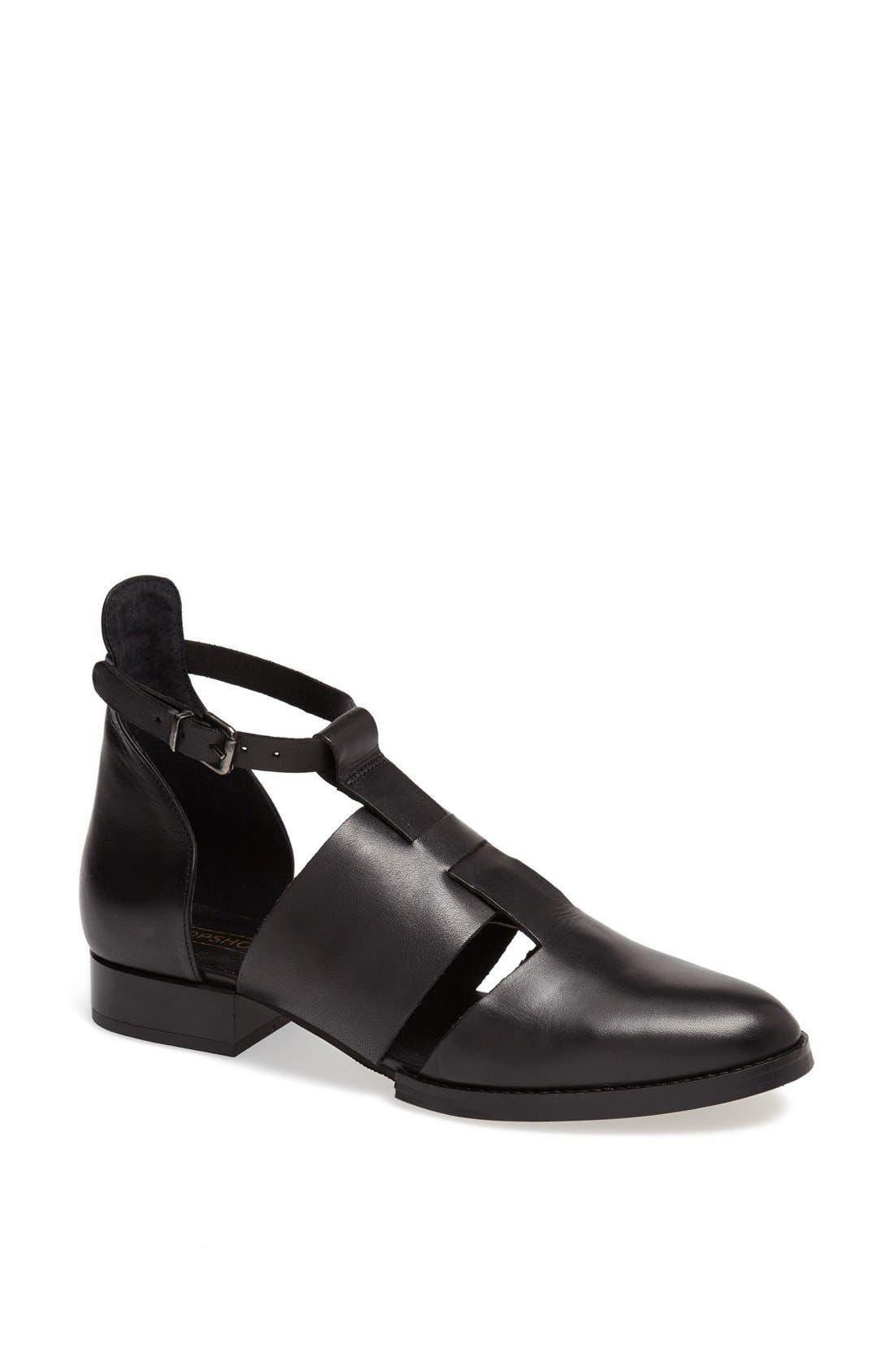 'Kapa' Cutout Shoe,                             Main thumbnail 1, color,                             001