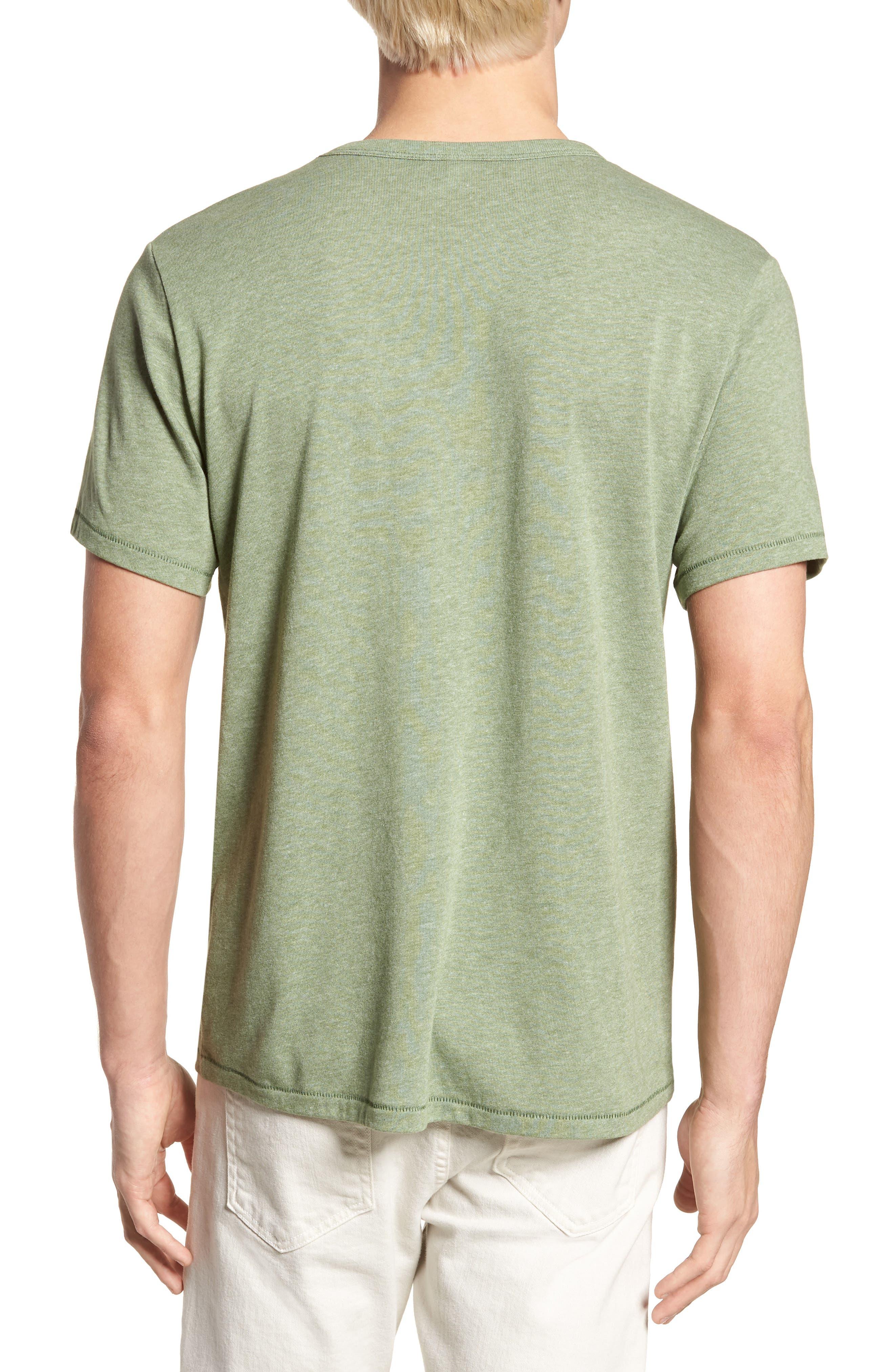 Mt. Hood Crewneck T-Shirt,                             Alternate thumbnail 2, color,                             FOREST GREEN