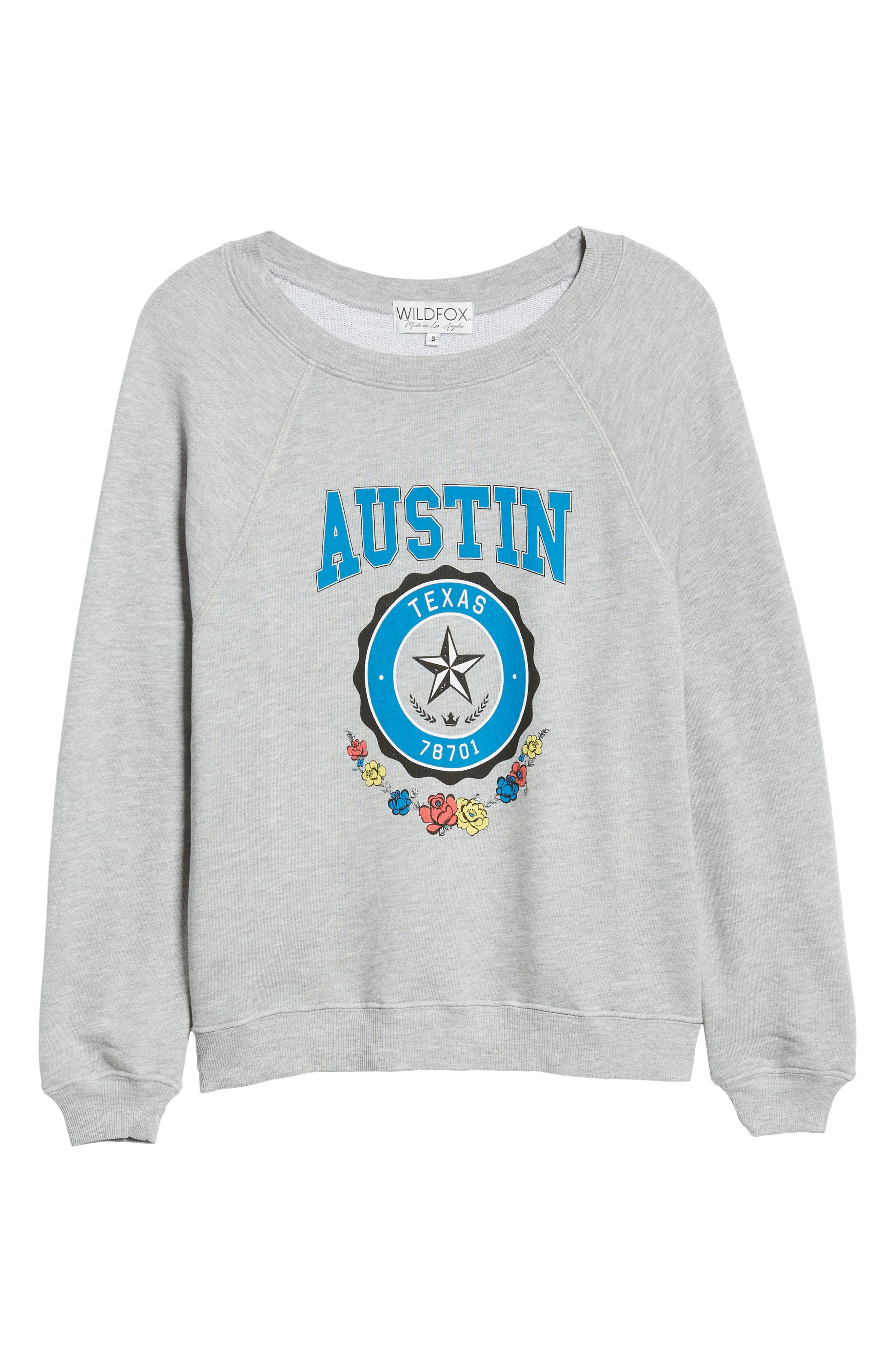 Austin Crest Sommers Sweatshirt,                             Alternate thumbnail 6, color,                             HEATHER