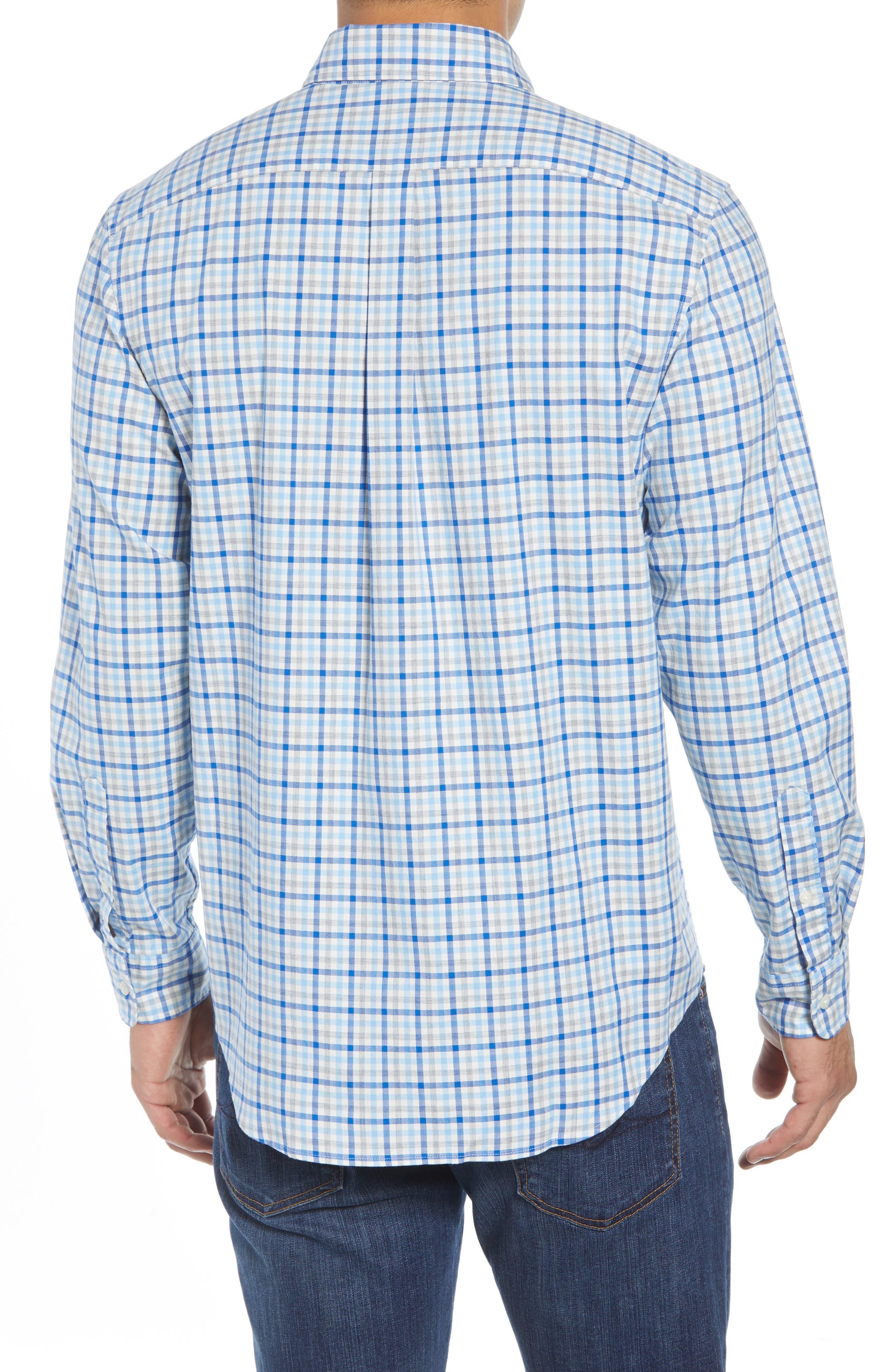 Pondview Regular Fit Check Sport Shirt,                             Alternate thumbnail 3, color,                             484
