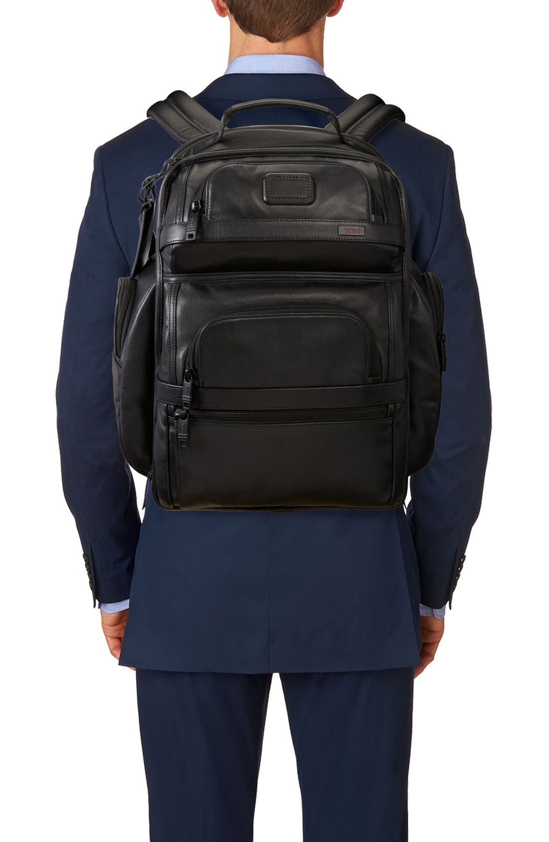 Alpha 2 T-Pass<sup>®</sup> Leather Brief Pack<sup>®</sup>,                             Alternate thumbnail 2, color,                             007
