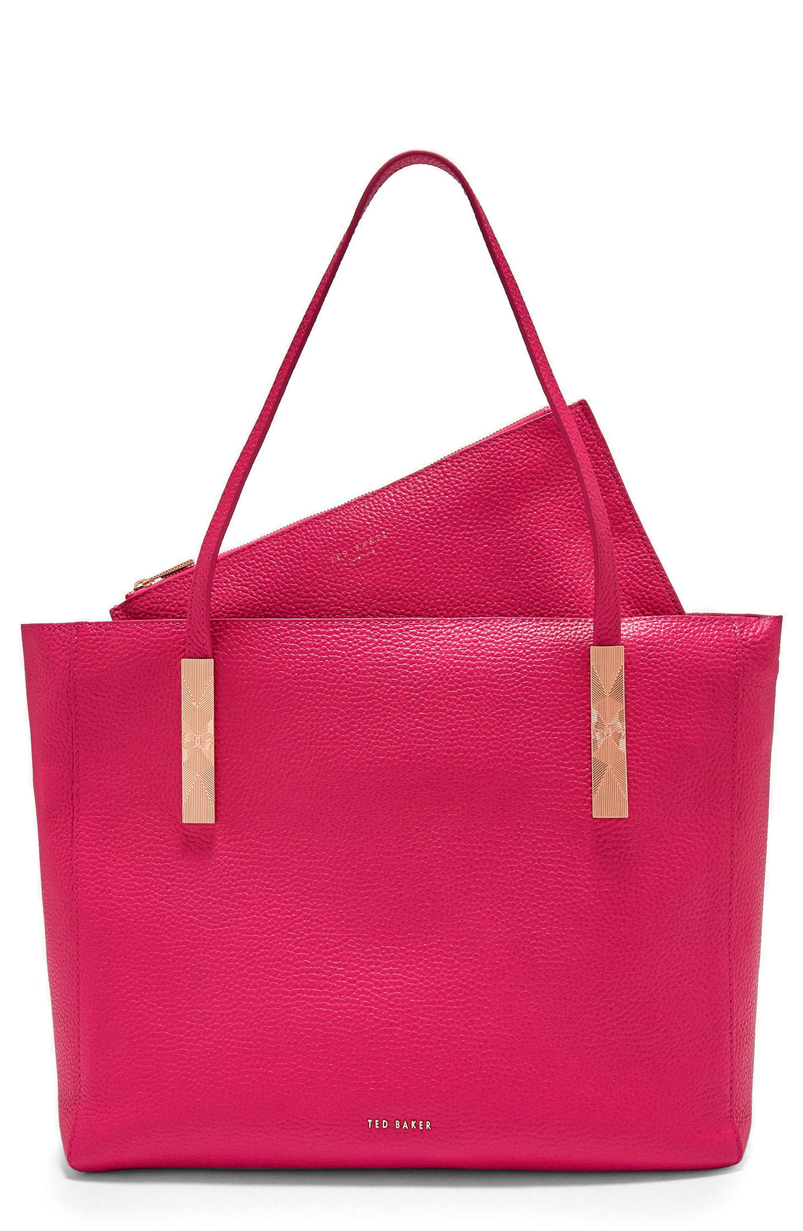 Pebbled Leather Tote,                             Main thumbnail 2, color,