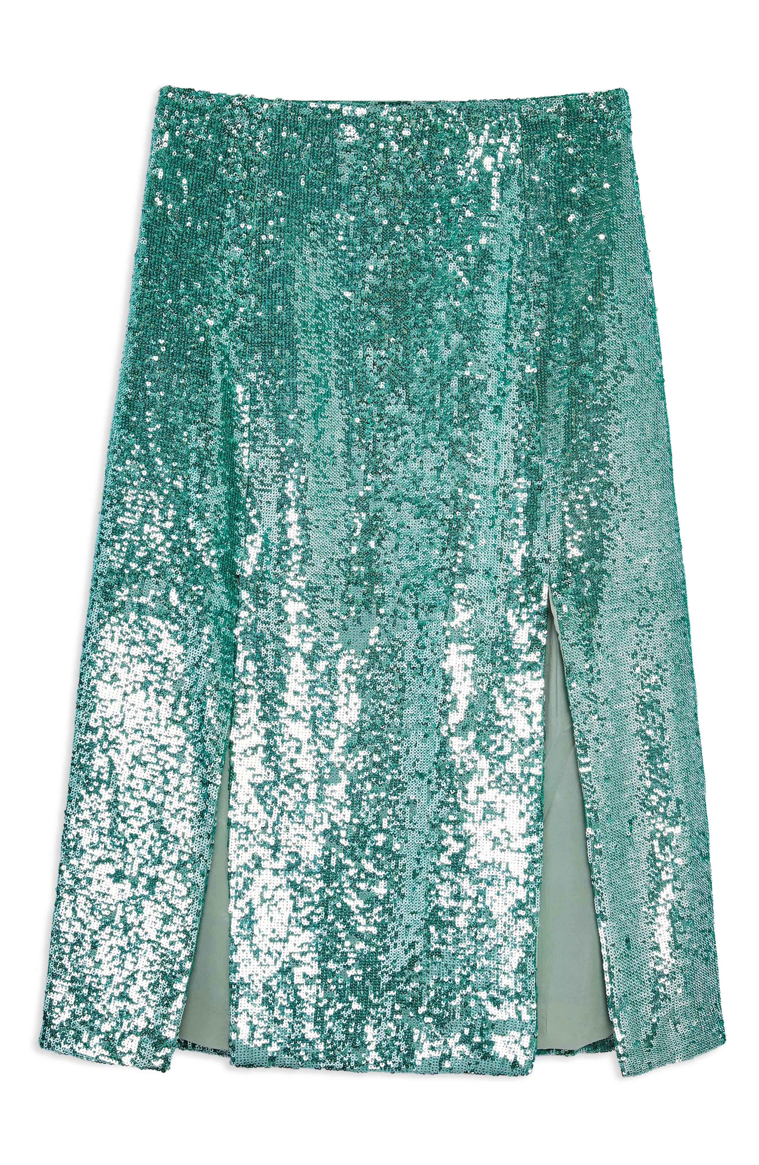 Sequin Skirt,                             Alternate thumbnail 4, color,                             MINT