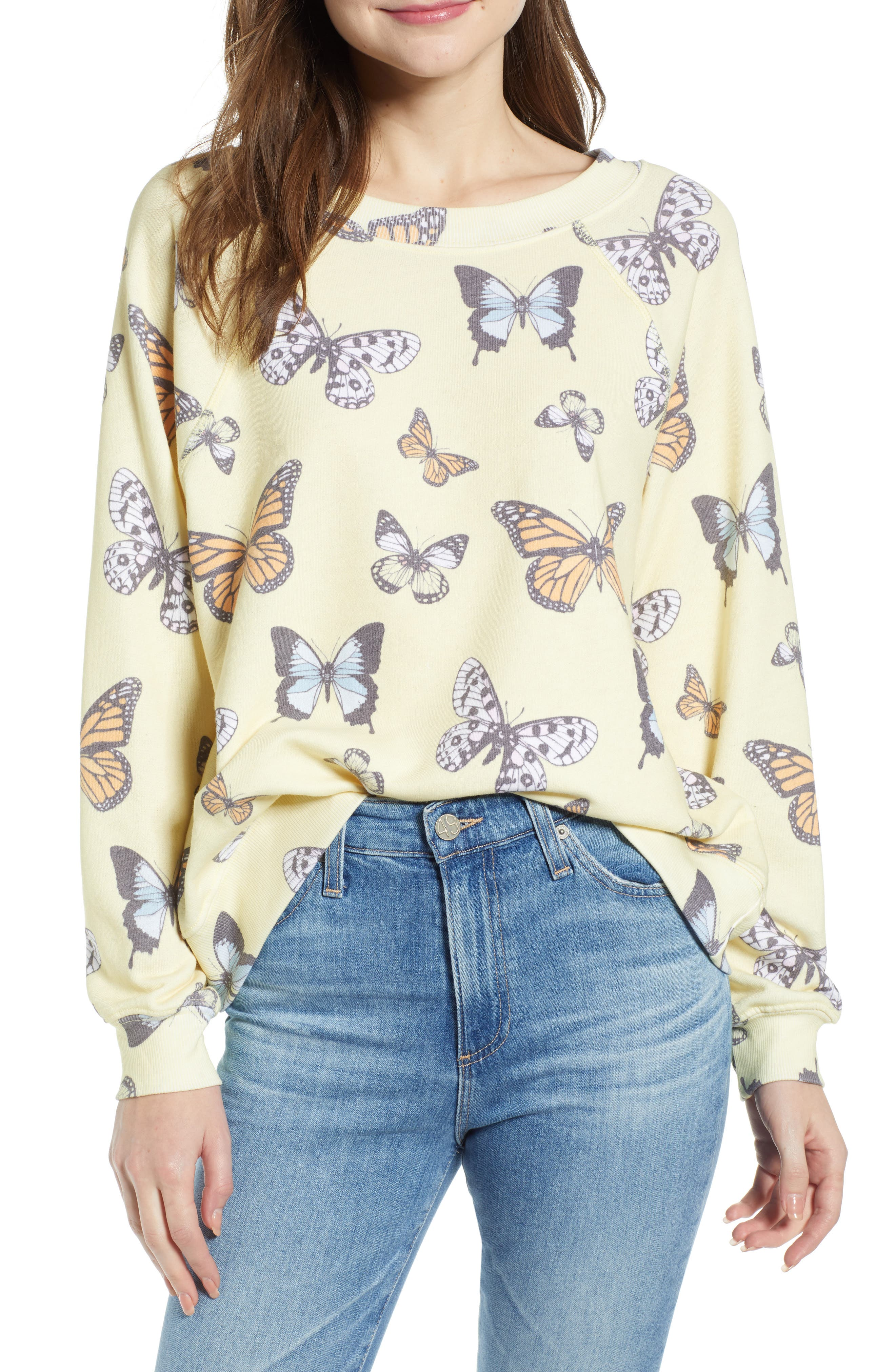 Wildfox T-shirts SOMMERS BUTTERFLY SWEATSHIRT