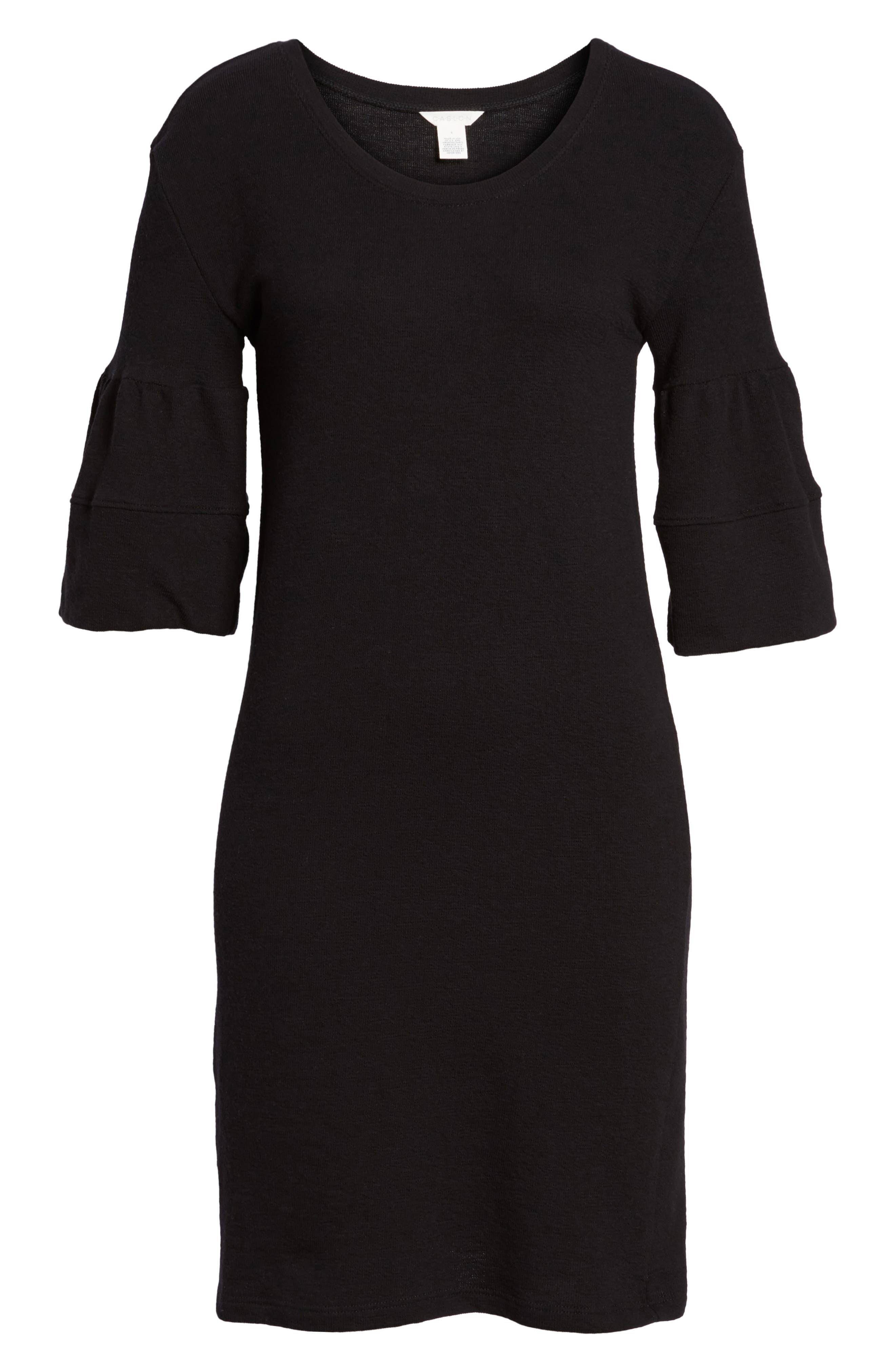 Ruffle Sleeve Knit Dress,                             Alternate thumbnail 17, color,