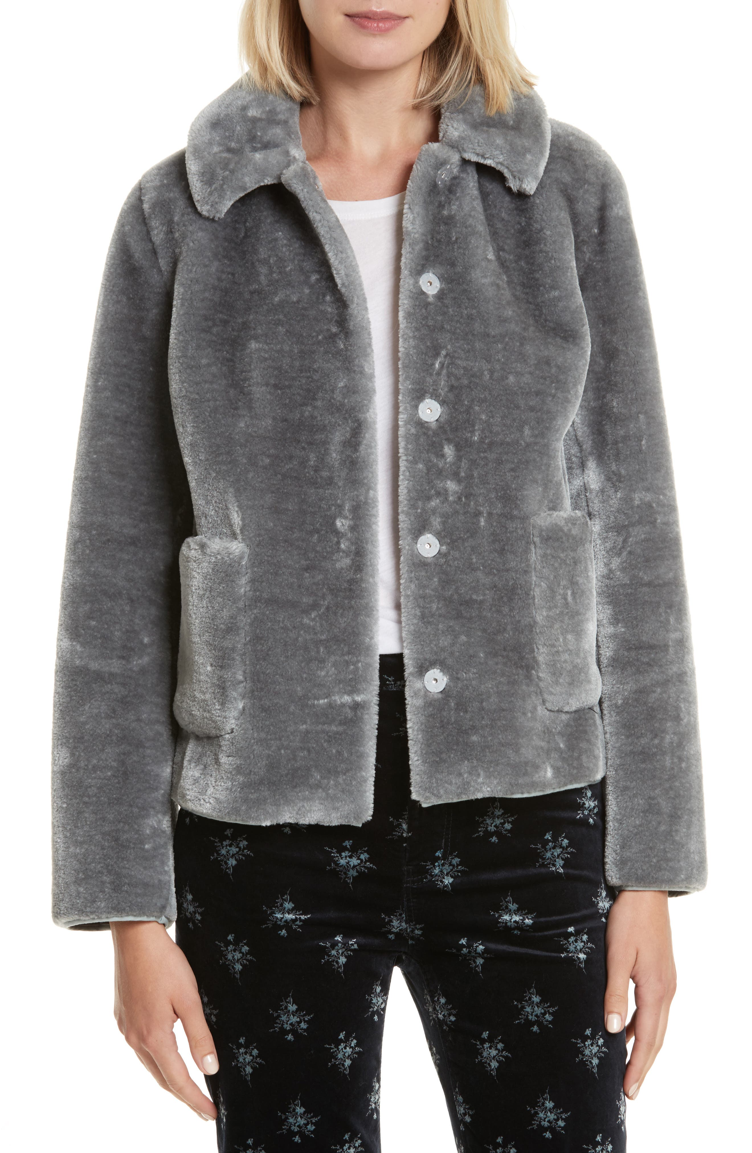 Faux Fur Jacket,                             Main thumbnail 1, color,                             063
