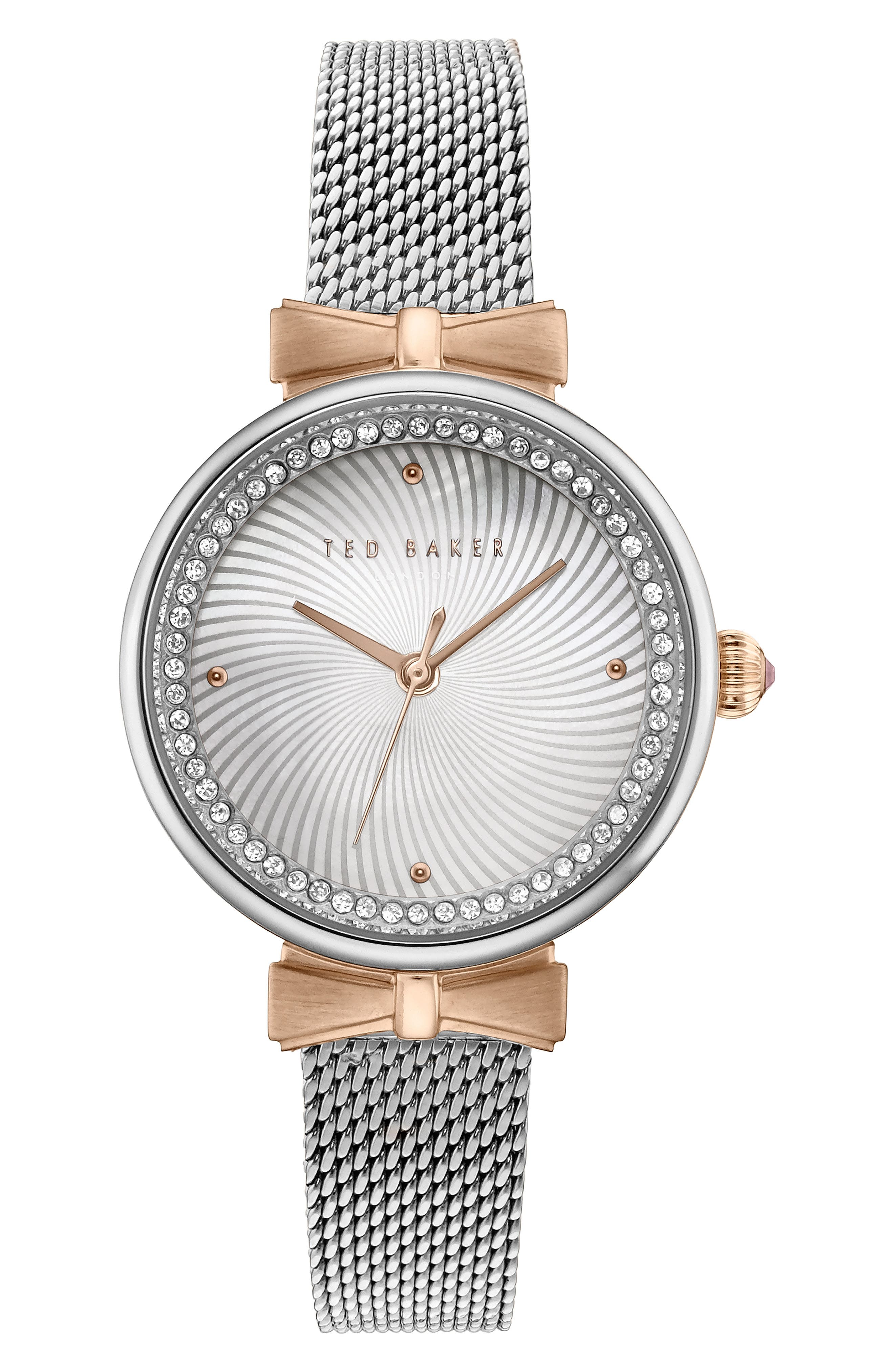 Jessica Mesh Strap Watch, 30mm,                         Main,                         color, 040
