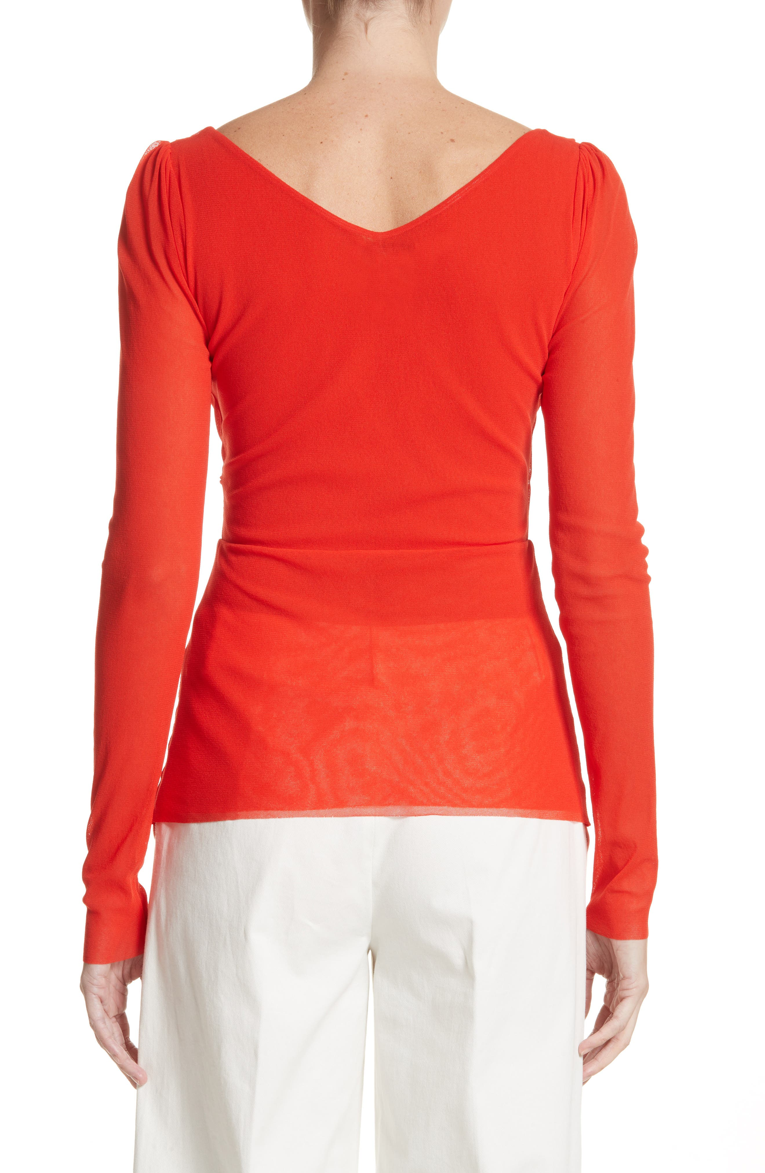 Surplice Neck Top,                             Alternate thumbnail 2, color,                             650