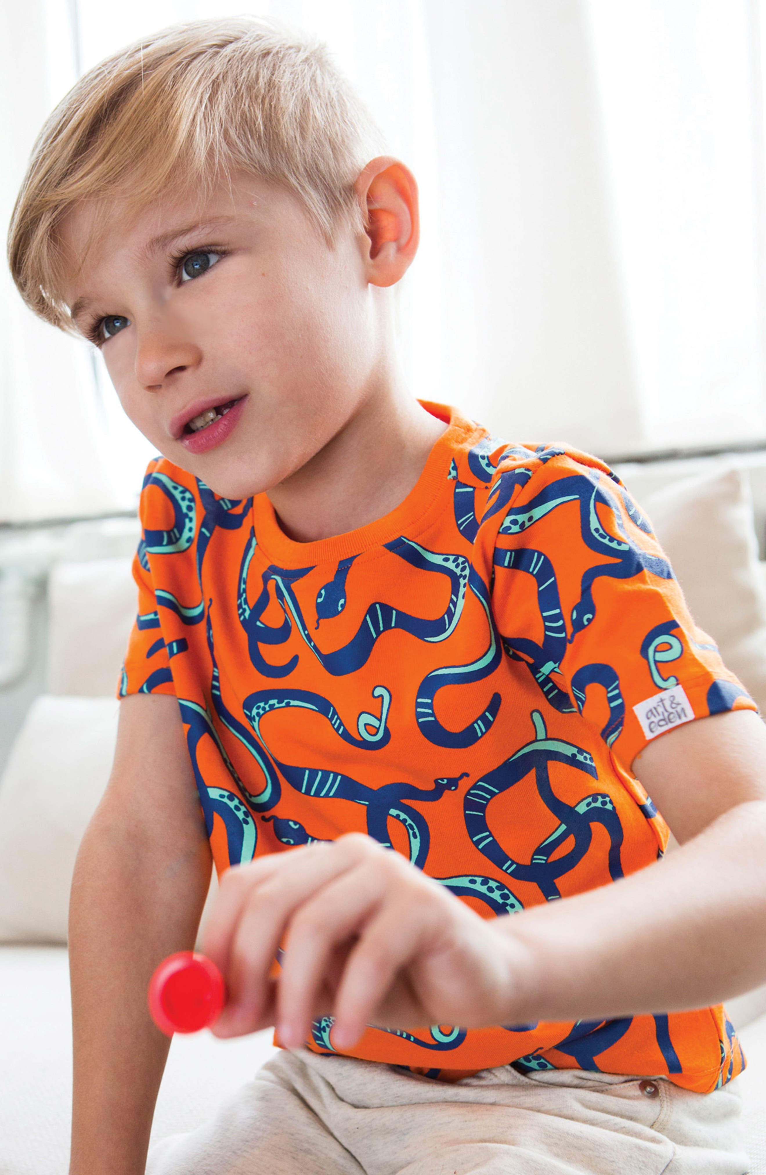 Jonathen Organic Cotton T-Shirt,                             Alternate thumbnail 2, color,                             805