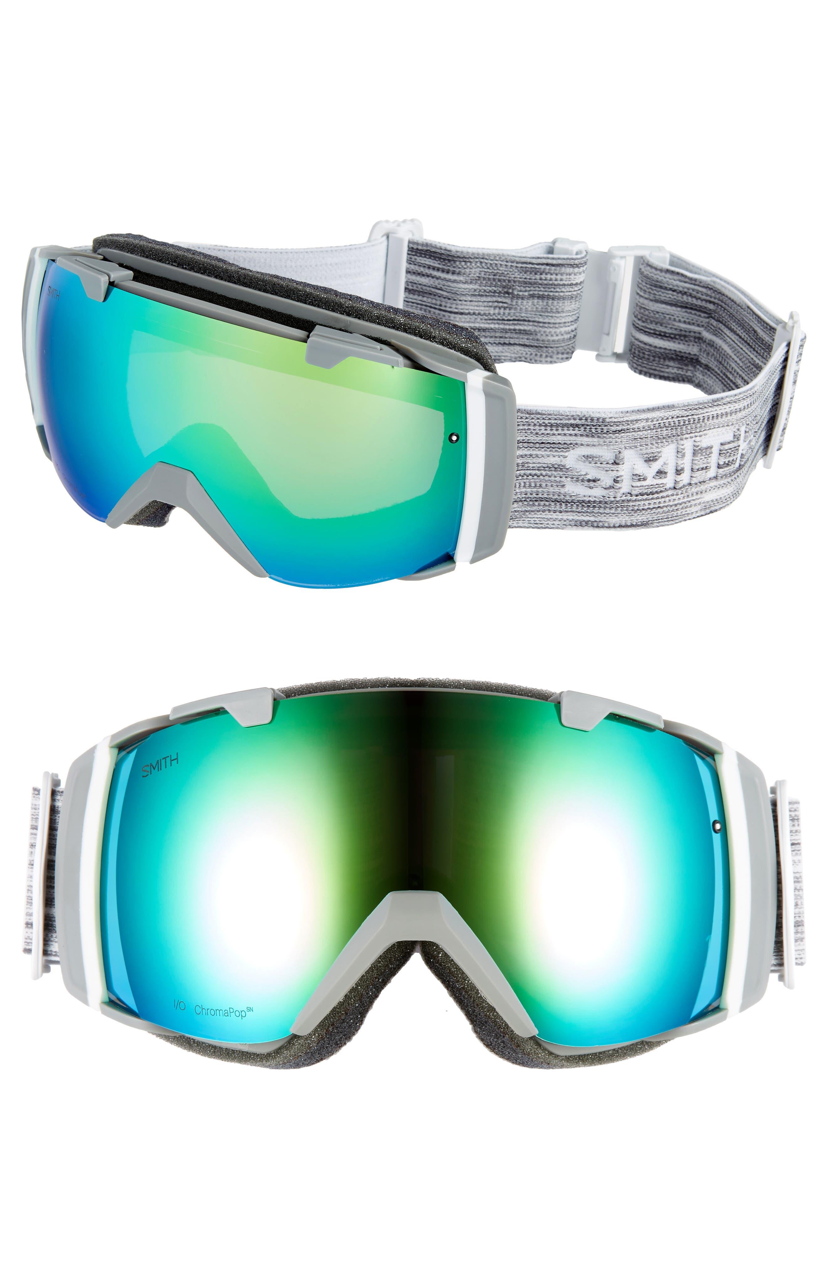 SMITH,                             I/O 215mm ChromaPop Snow Goggles,                             Main thumbnail 1, color,                             CLOUD GREY