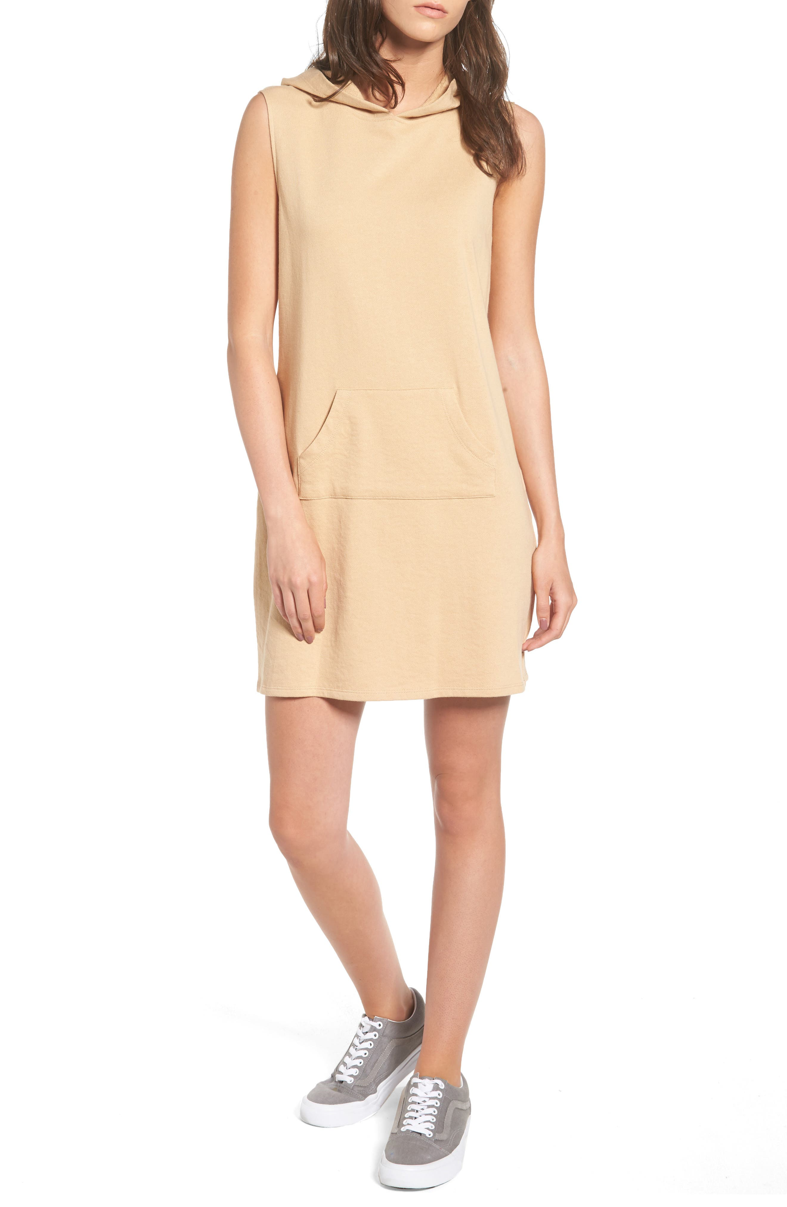 French Terry Hoodie Dress,                         Main,                         color, 250