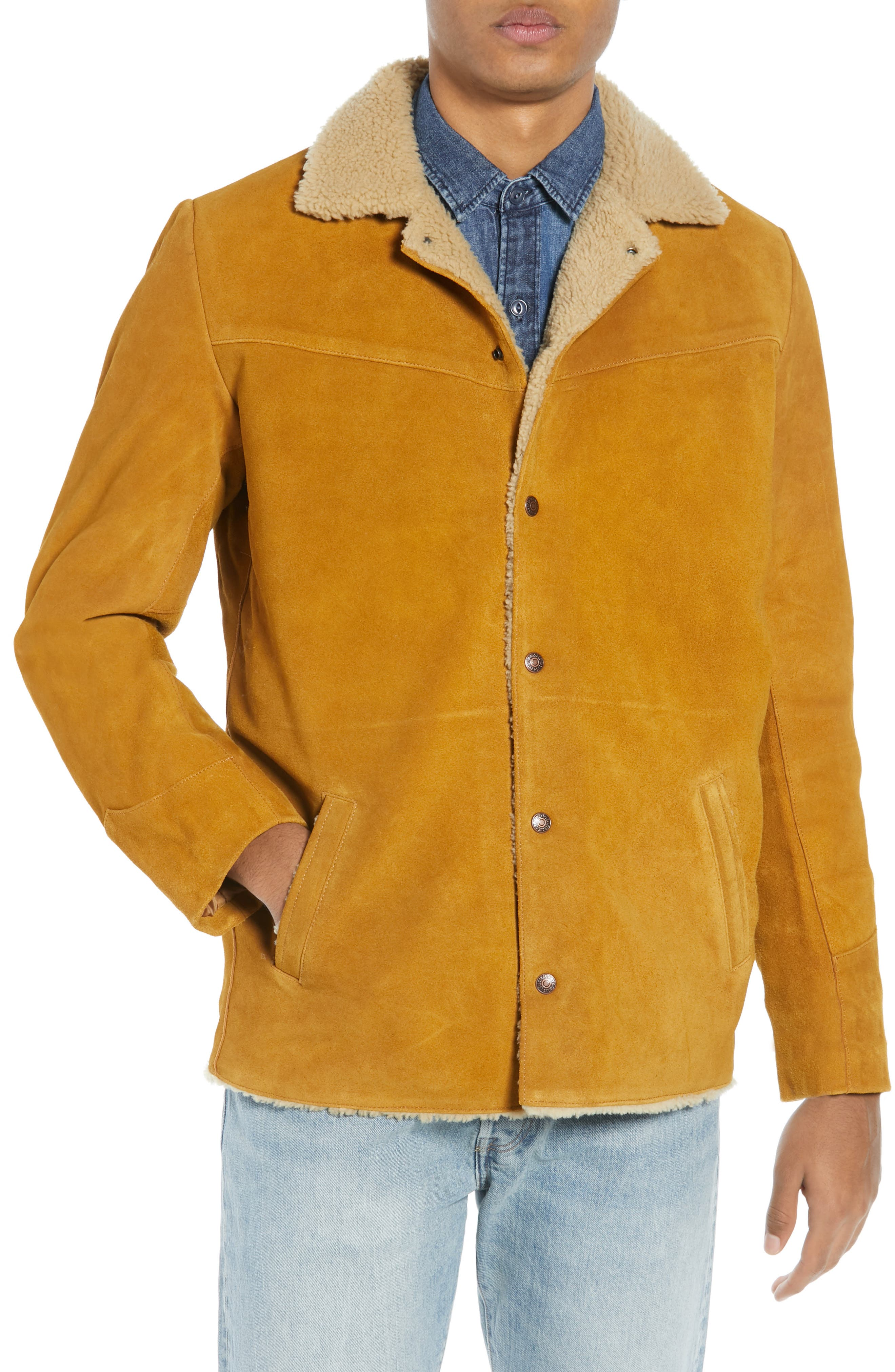 Levi's<sup>®</sup> Fleece Lined Suede Jacket,                             Alternate thumbnail 4, color,                             250