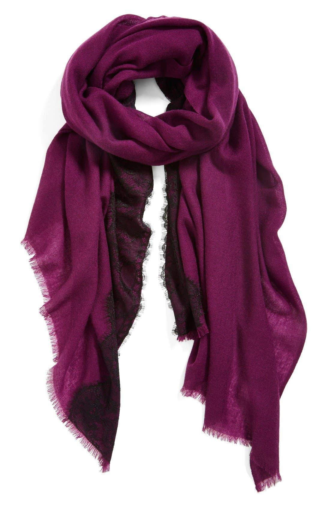 Lace Trim Wrap,                             Main thumbnail 4, color,