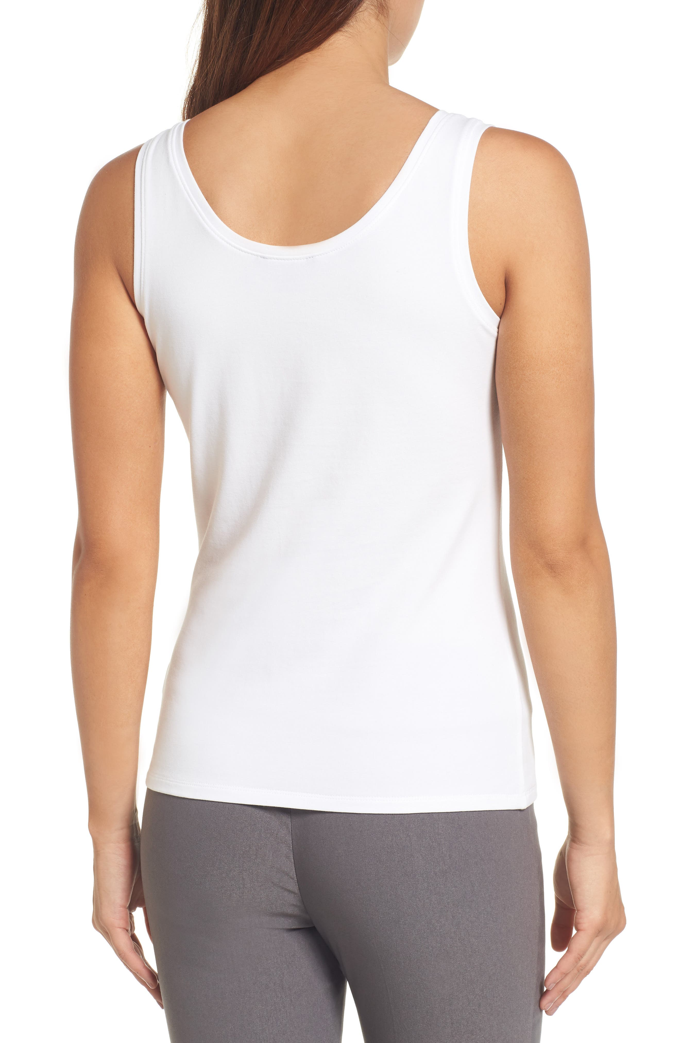 'Perfect' Tank,                             Alternate thumbnail 2, color,                             NEW PAPER WHITE