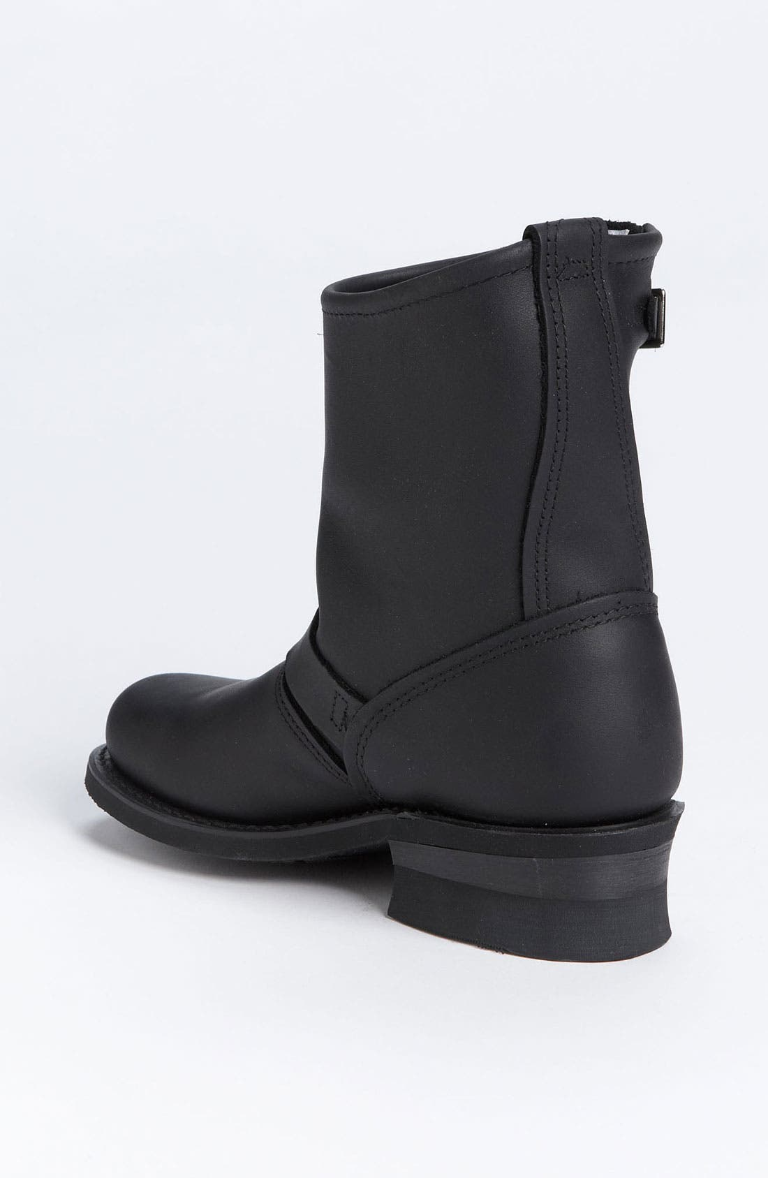 'Engineer 8R' Leather Boot,                             Alternate thumbnail 3, color,                             BLACK