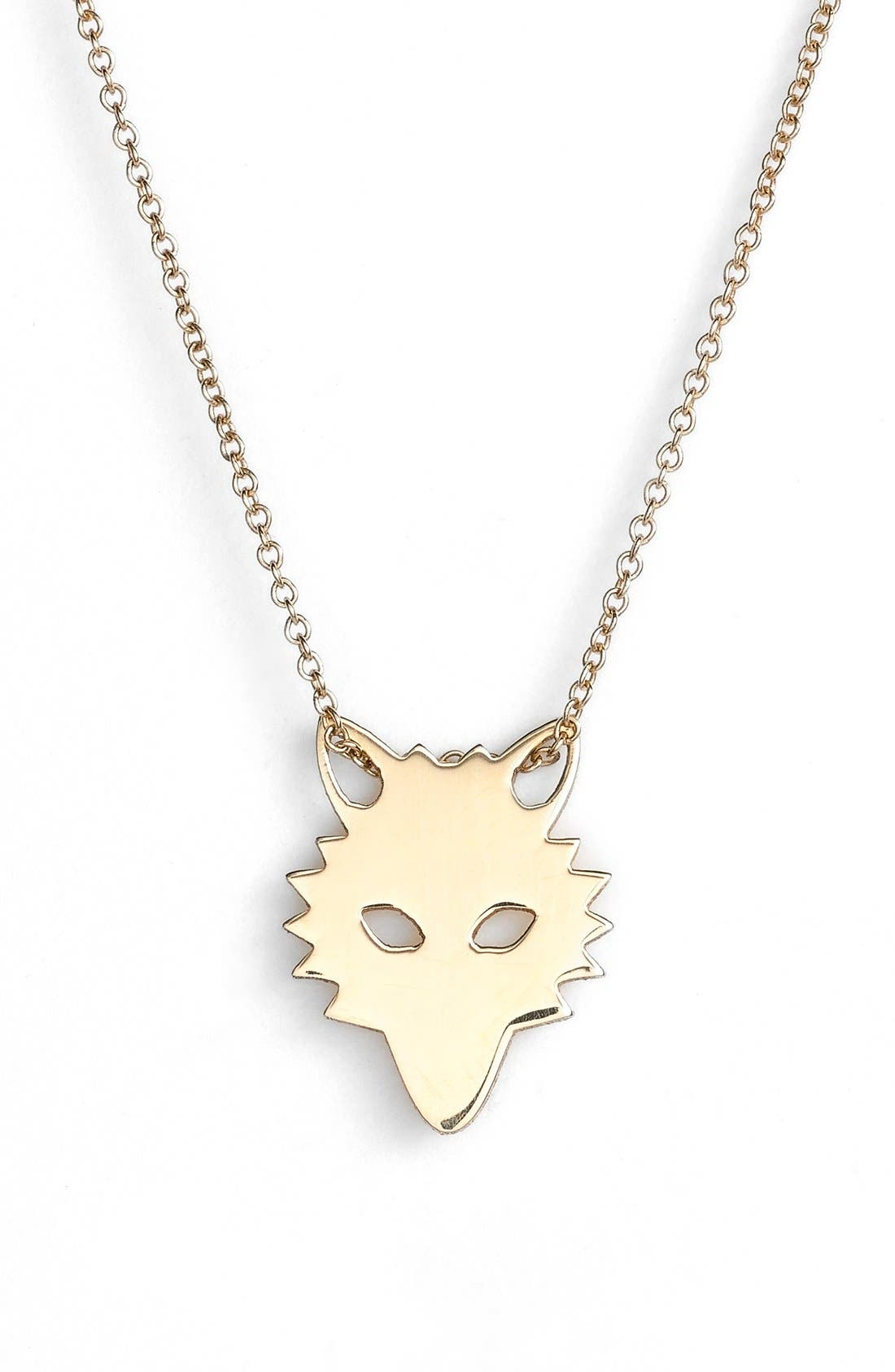 GINETTE NY,                             'Mini Wolf' Pendant Necklace,                             Main thumbnail 1, color,                             712