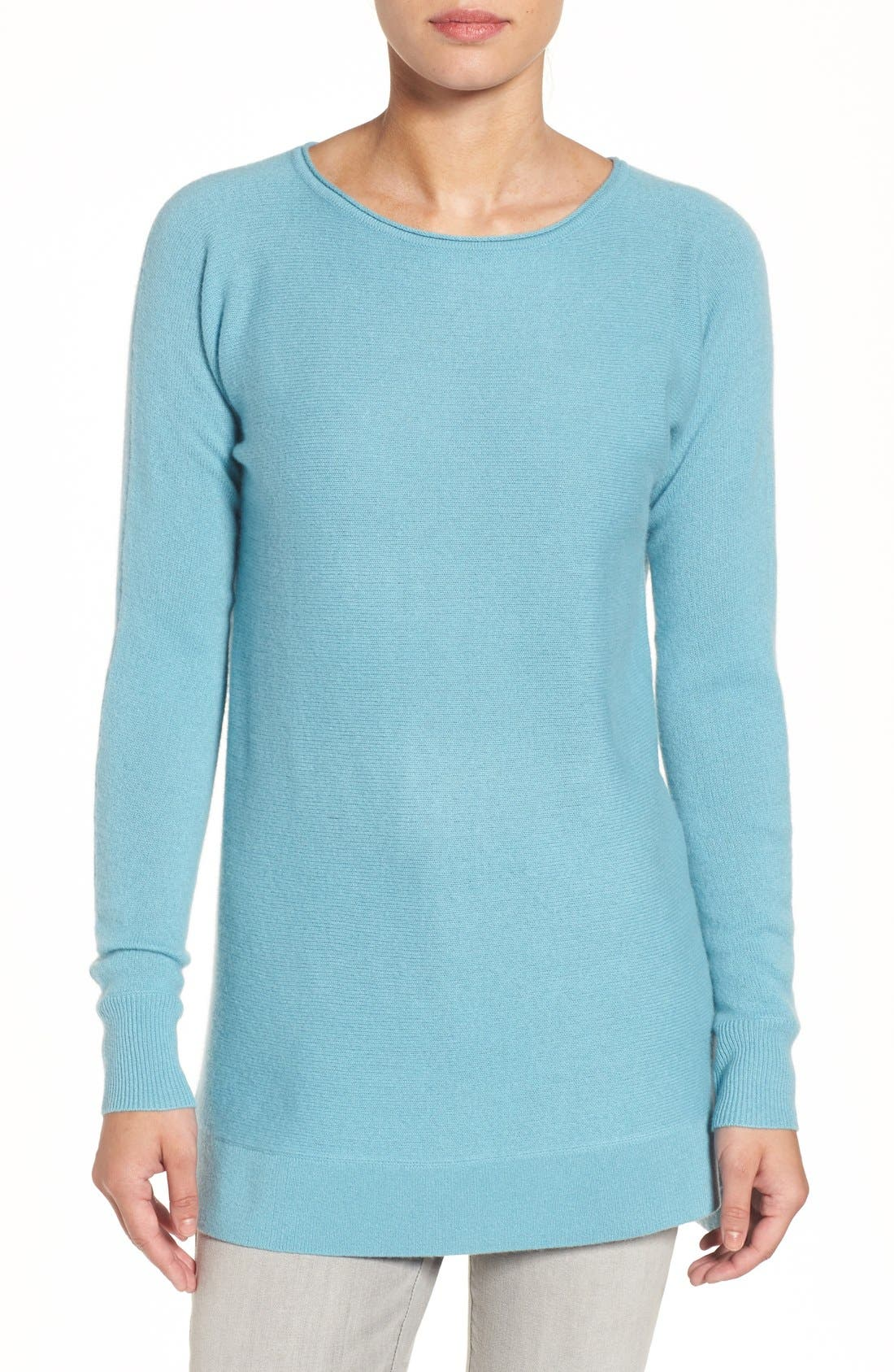 High/Low Wool & Cashmere Tunic Sweater,                             Main thumbnail 10, color,