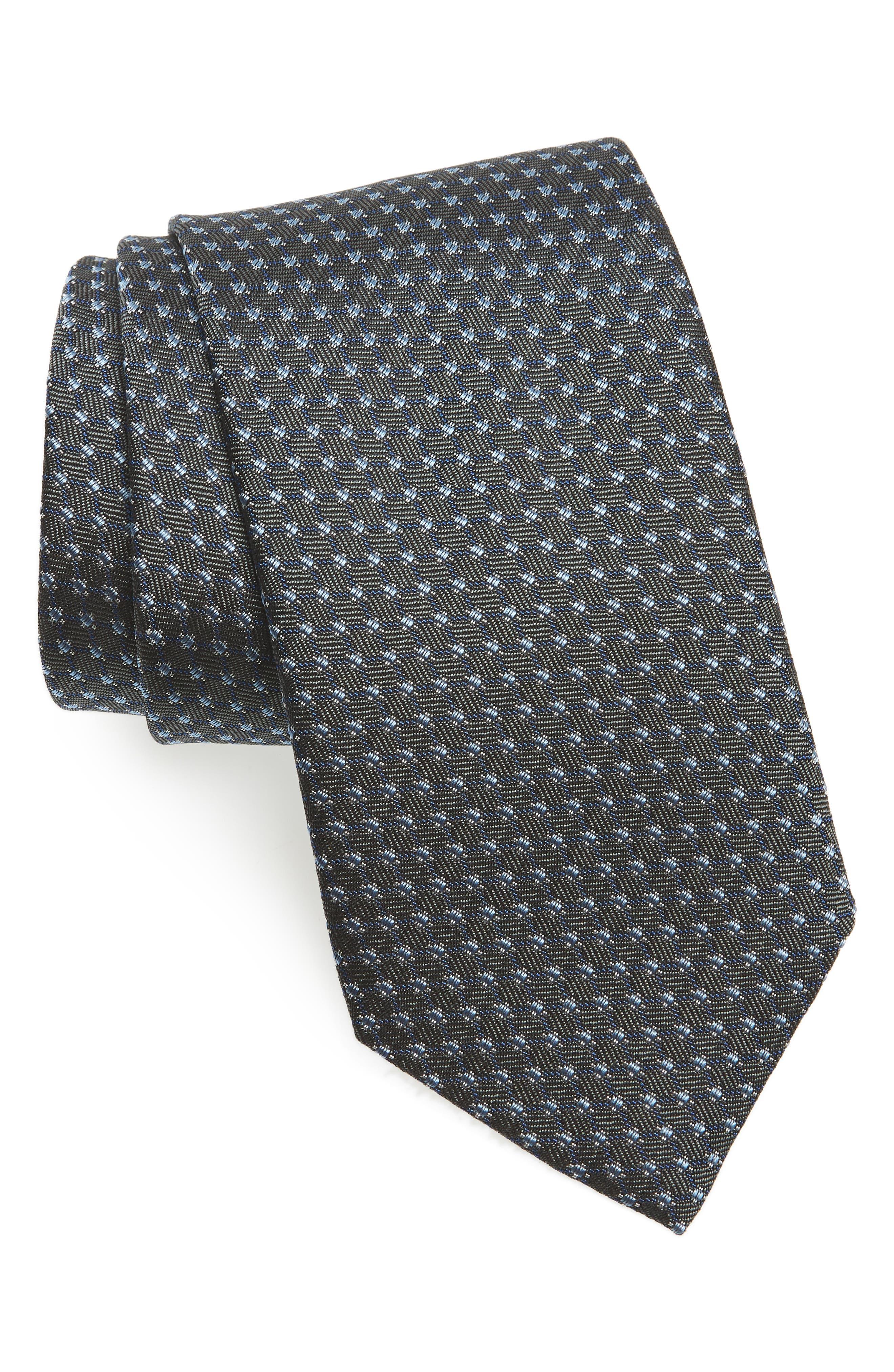 Neat Silk Tie,                         Main,                         color, 020