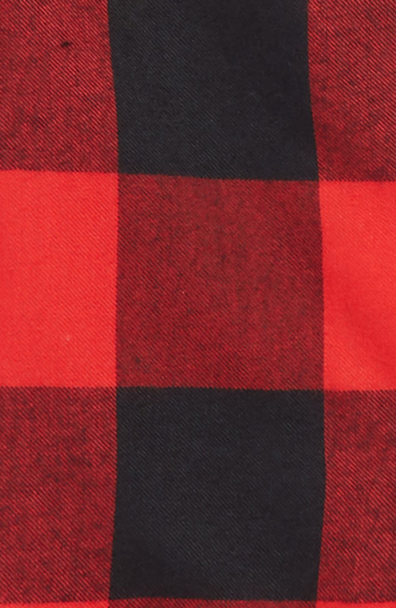 Flannel Pajamas,                             Alternate thumbnail 2, color,                             RED BLOOM LARGE BUFFALO CHECK
