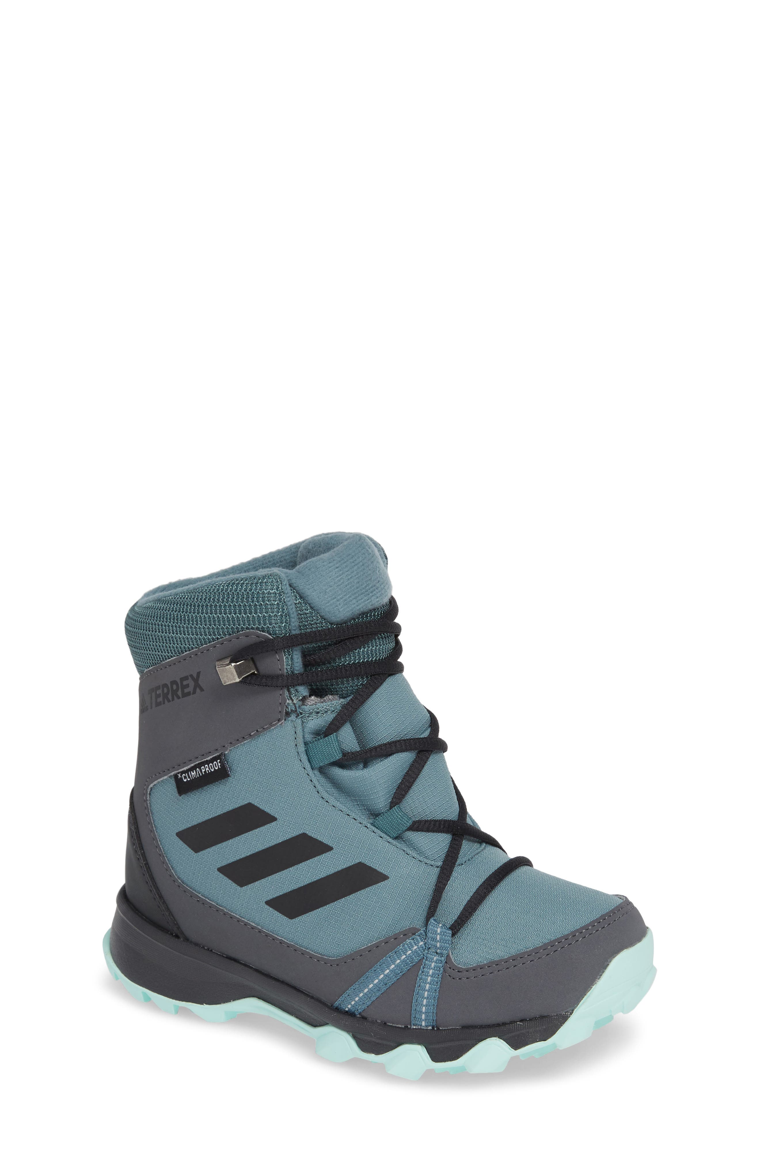 Terrex Snow CP CW Insulated Waterproof Sneaker Boot,                         Main,                         color, CLEAR MINT/ CARBON/ AQUA