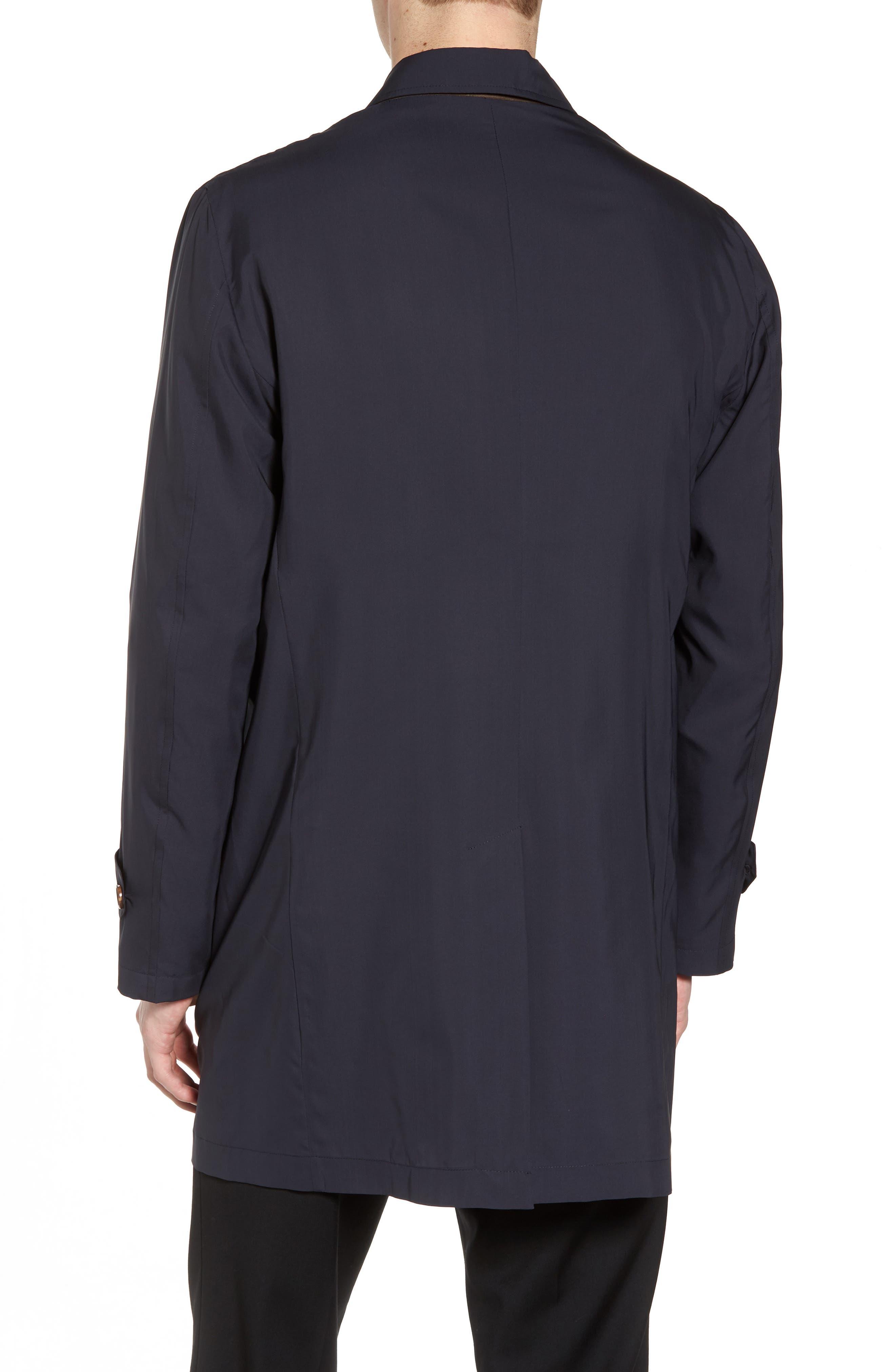 Trim Fit Water-Resistant Silk Topcoat,                             Alternate thumbnail 2, color,                             410
