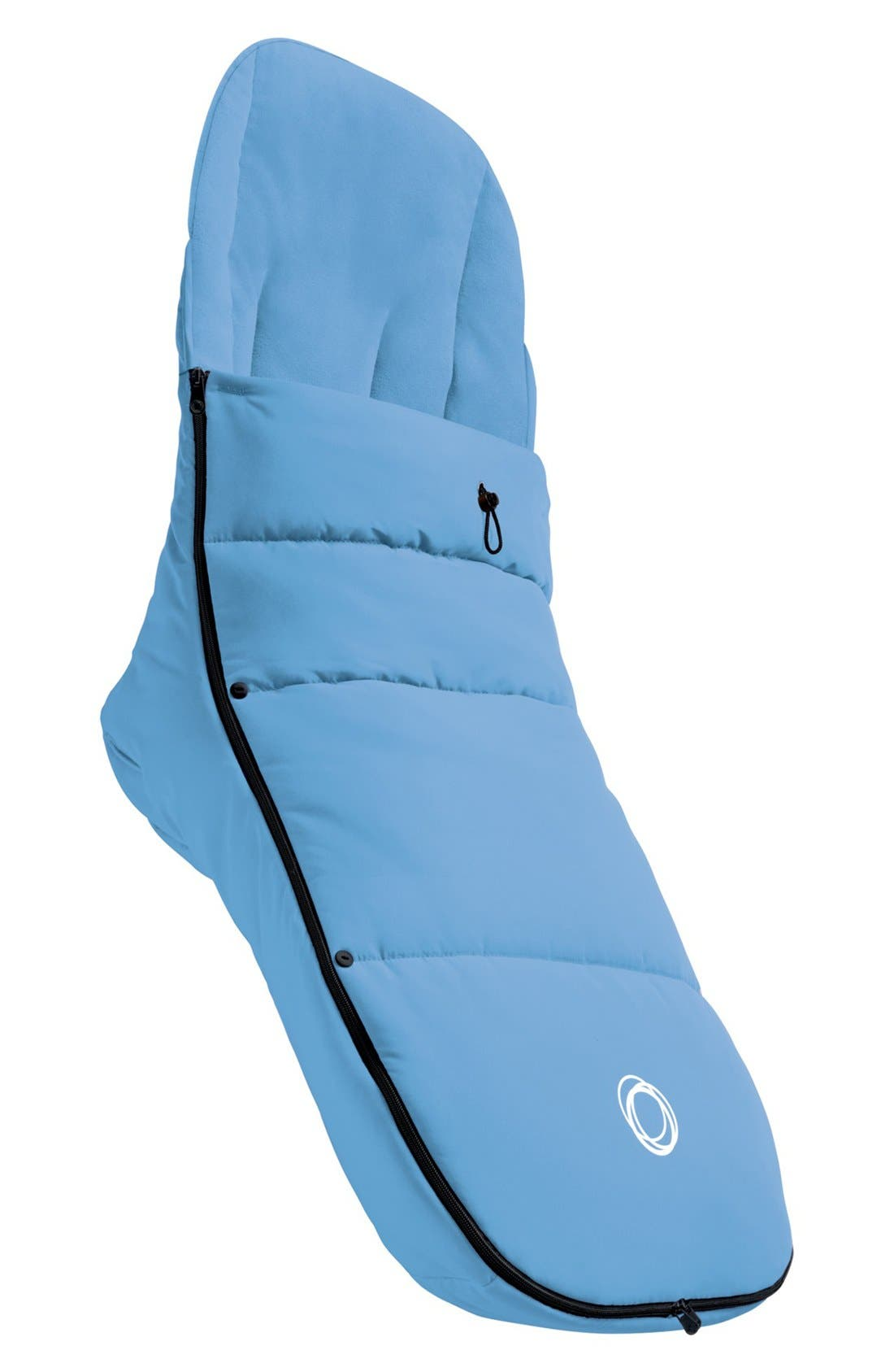 Stroller Footmuff,                             Main thumbnail 1, color,                             ICE BLUE