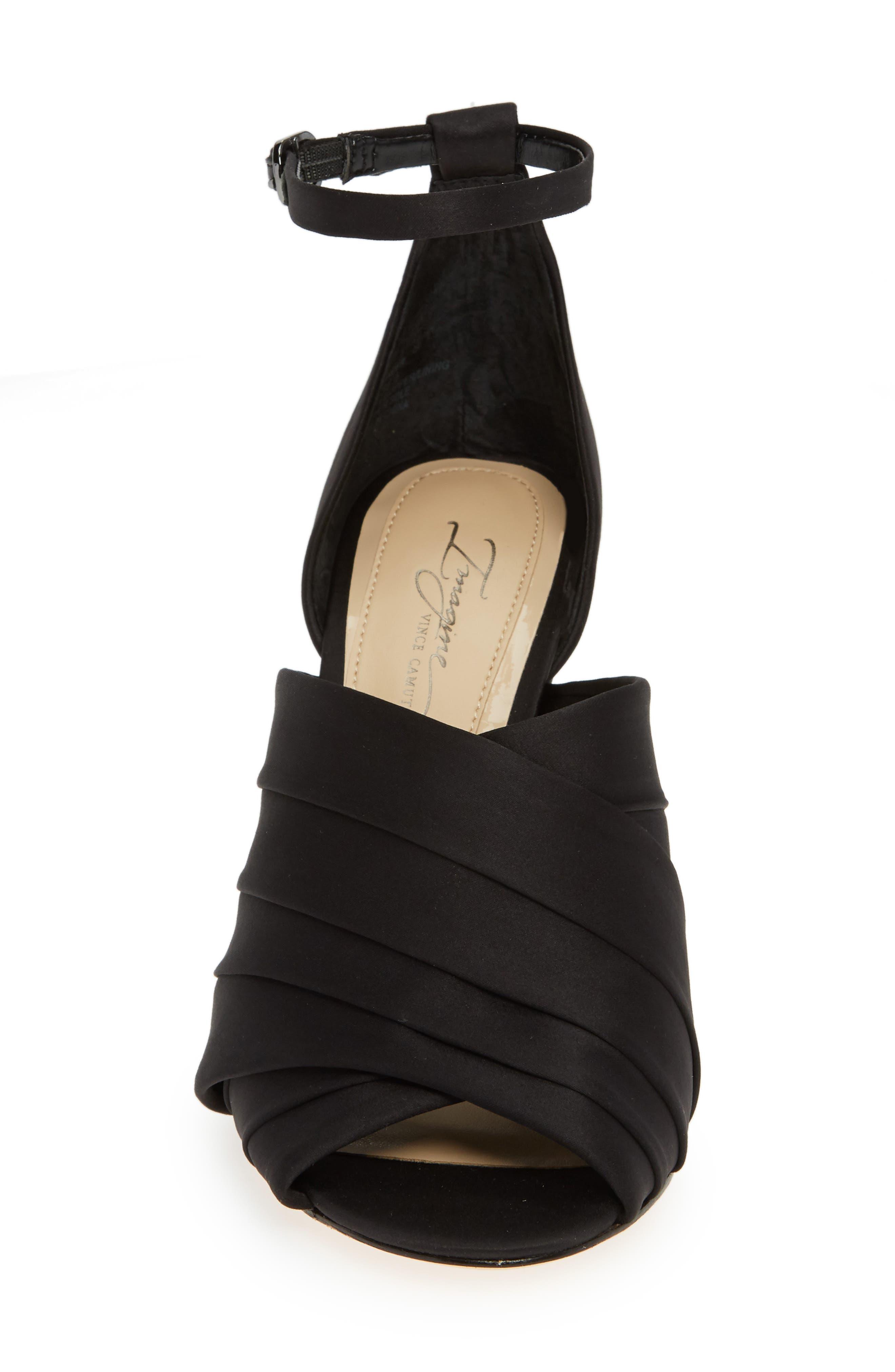 Rander Sandal,                             Alternate thumbnail 4, color,                             BLACK SATIN