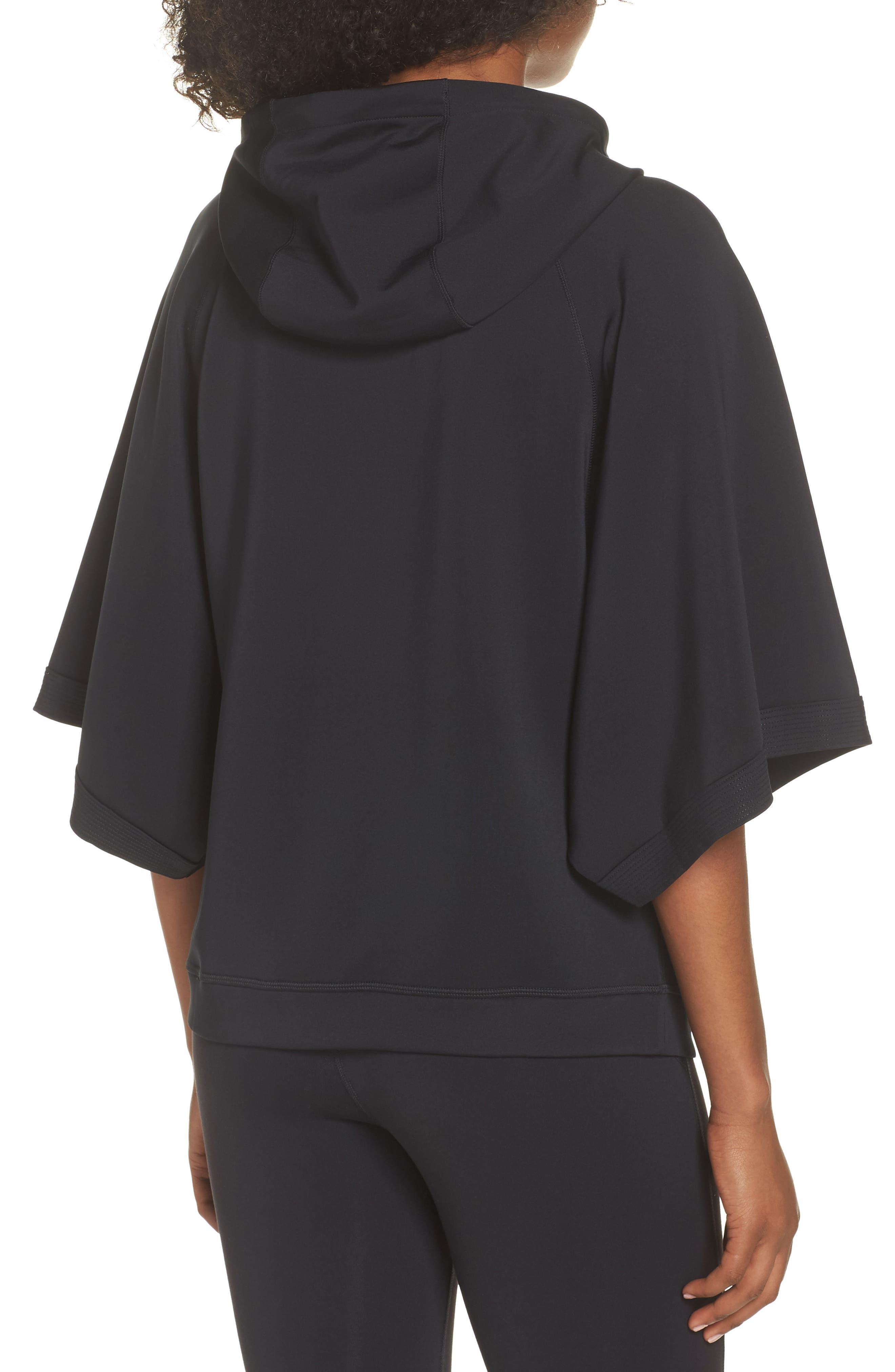 Captivate Kimono Sweatshirt,                             Alternate thumbnail 2, color,                             BLACK