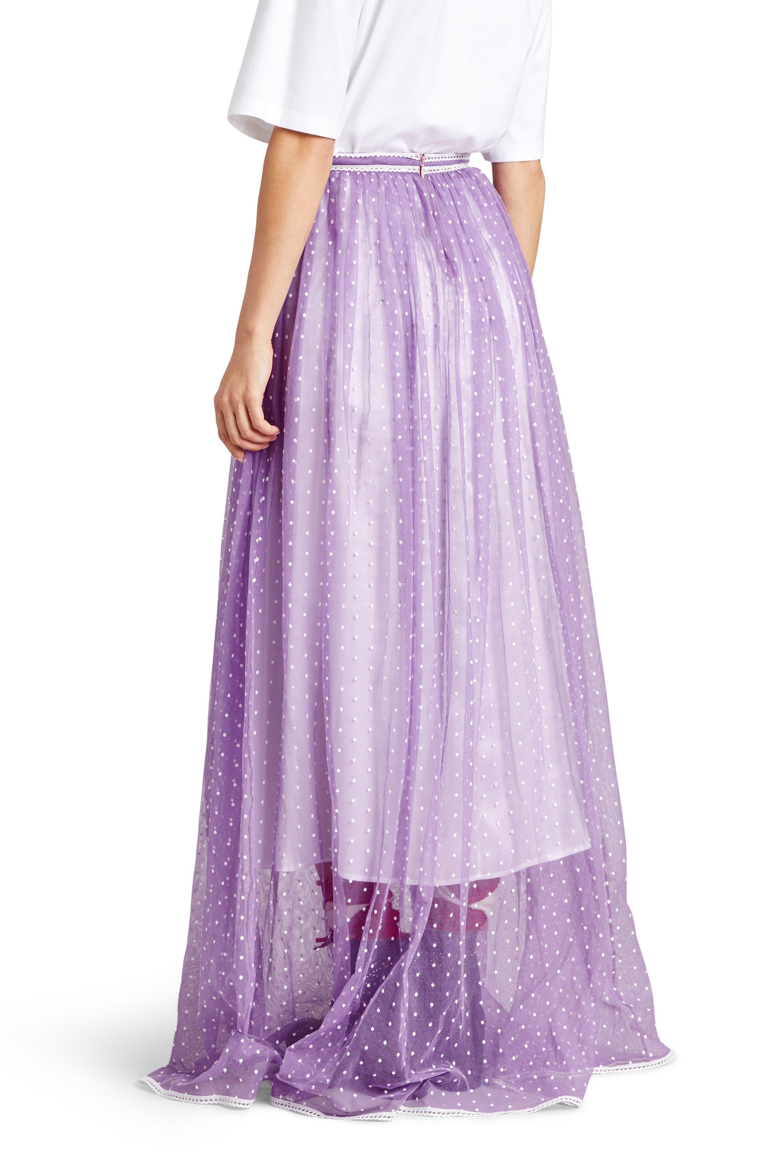 Flocked Tulle Maxi Skirt,                             Alternate thumbnail 2, color,                             520