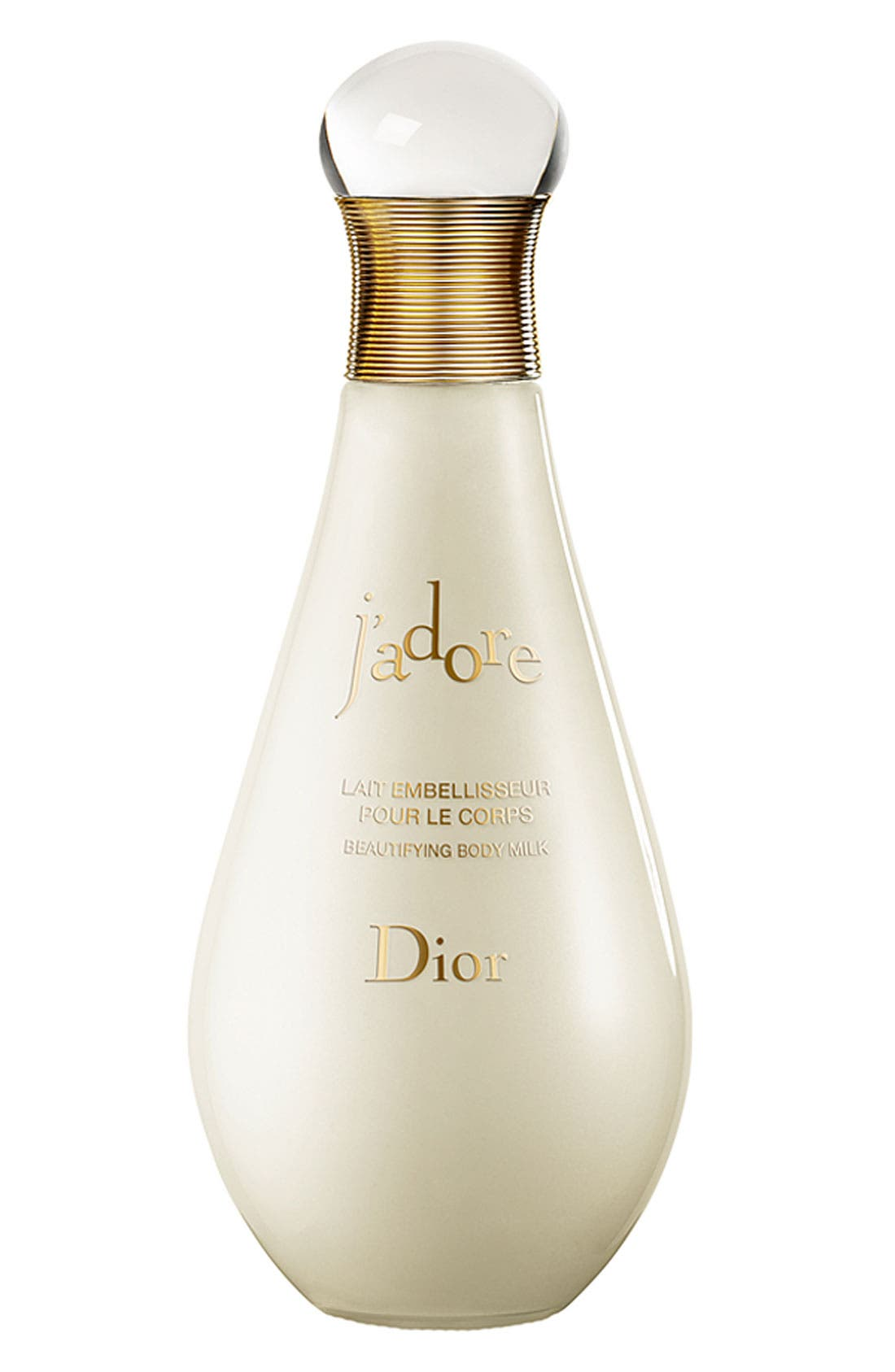 'J'adore' Beautifying Body Milk,                             Main thumbnail 1, color,                             NO COLOR
