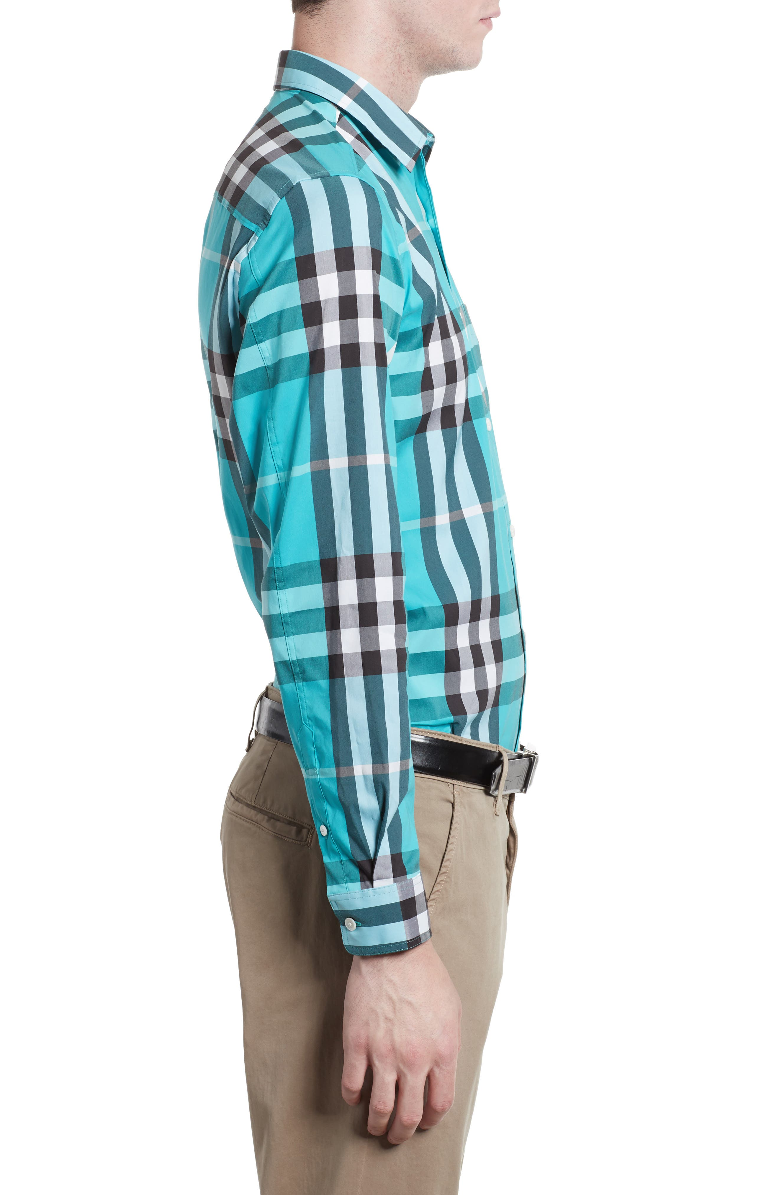 Nelson Check Sport Shirt,                             Alternate thumbnail 62, color,