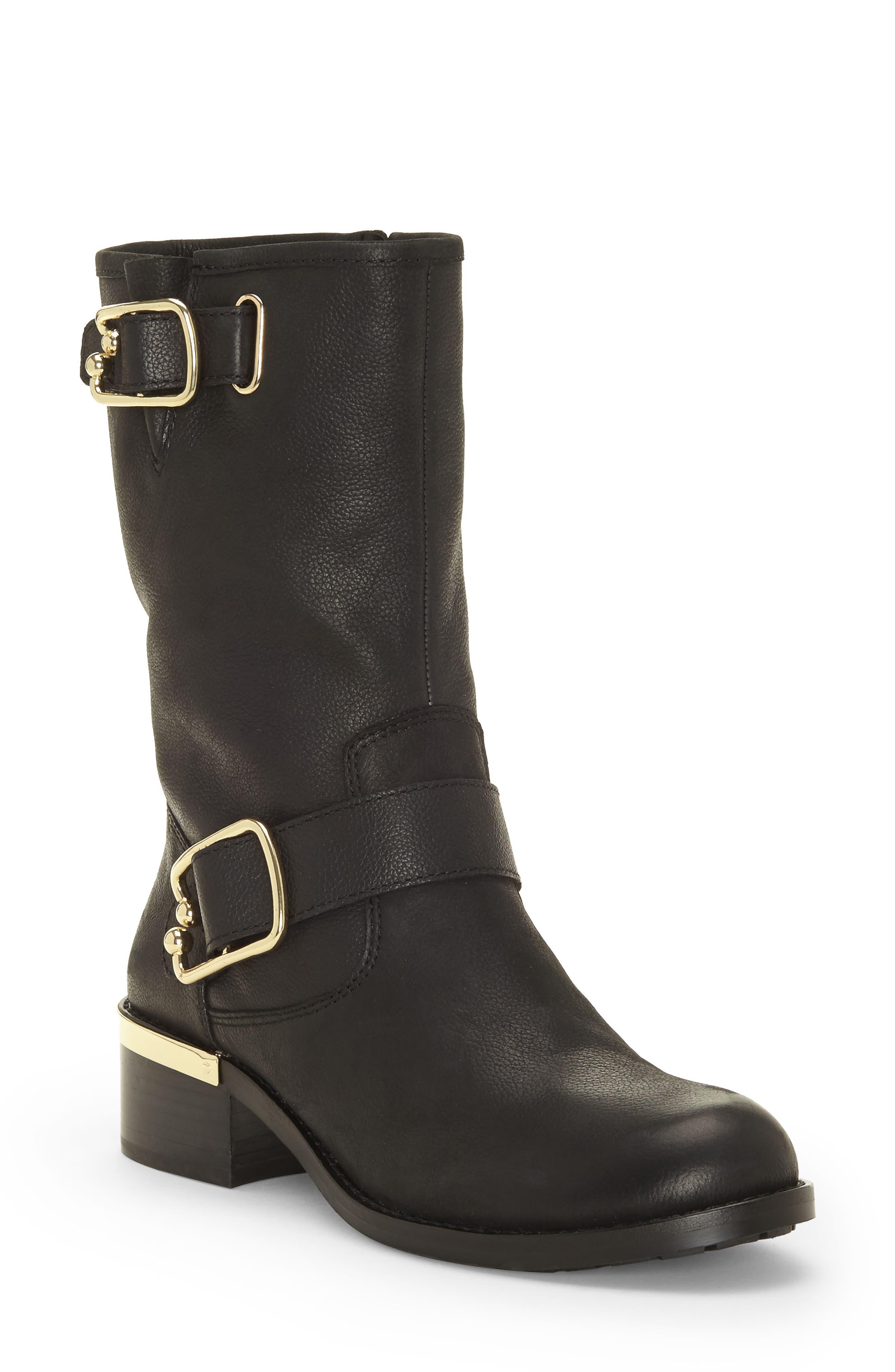 Wantilla Boot,                         Main,                         color, BLACK LEATHER
