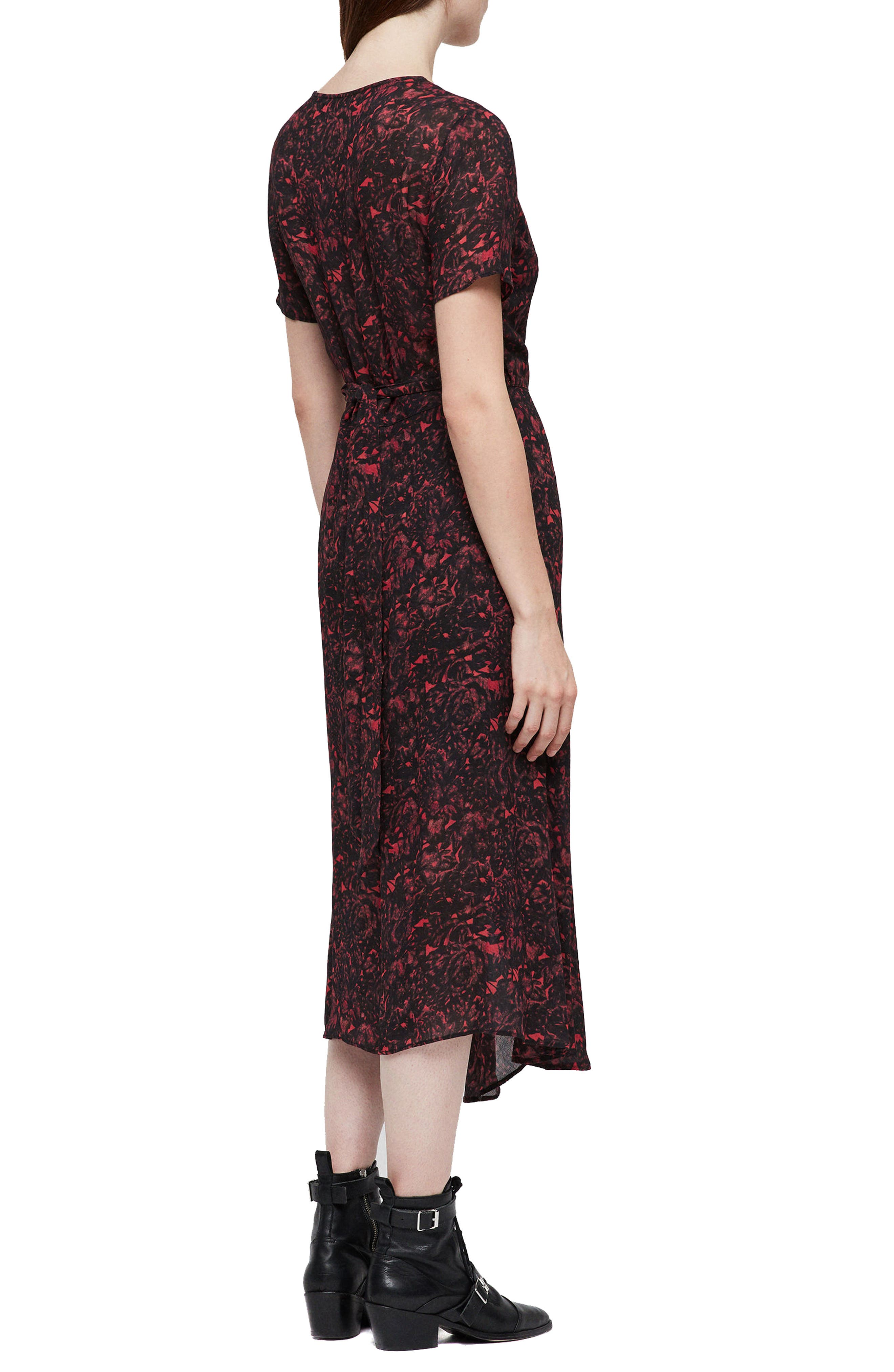 ALLSAINTS,                             Seeta Rosey Midi Dress,                             Alternate thumbnail 2, color,                             622