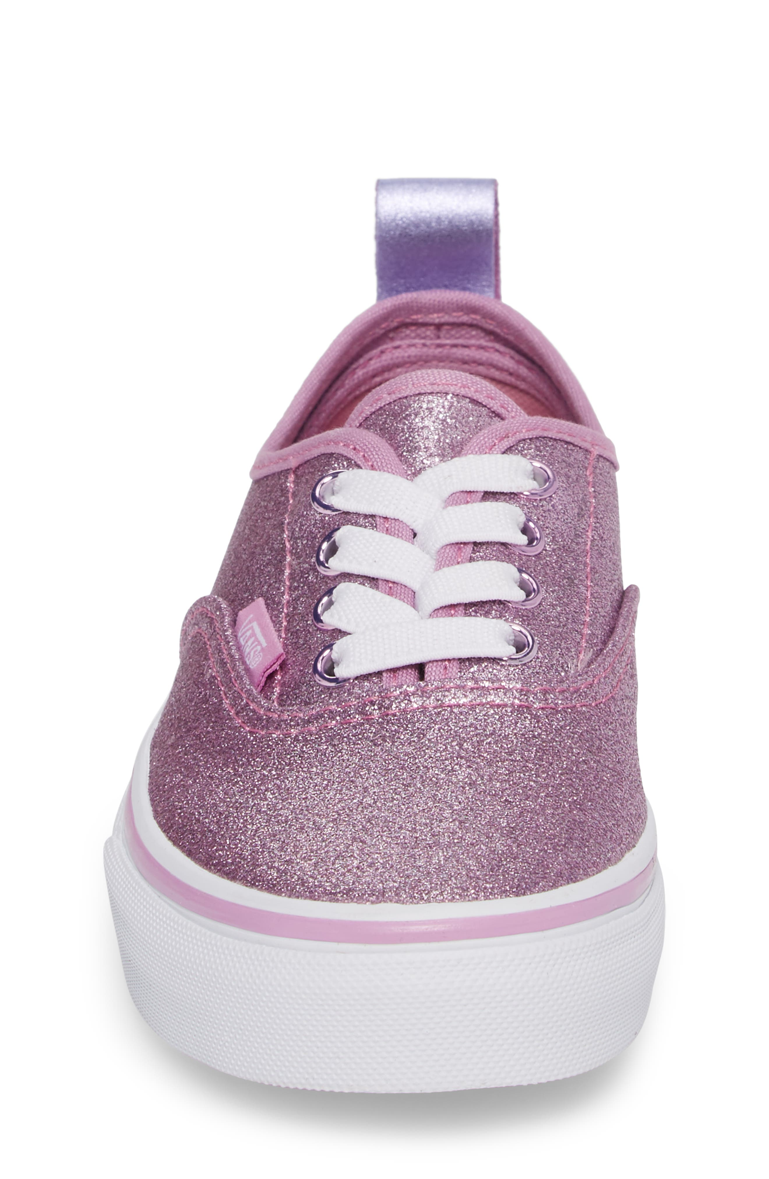 Glitter Authentic Elastic Lace Sneaker,                             Alternate thumbnail 4, color,