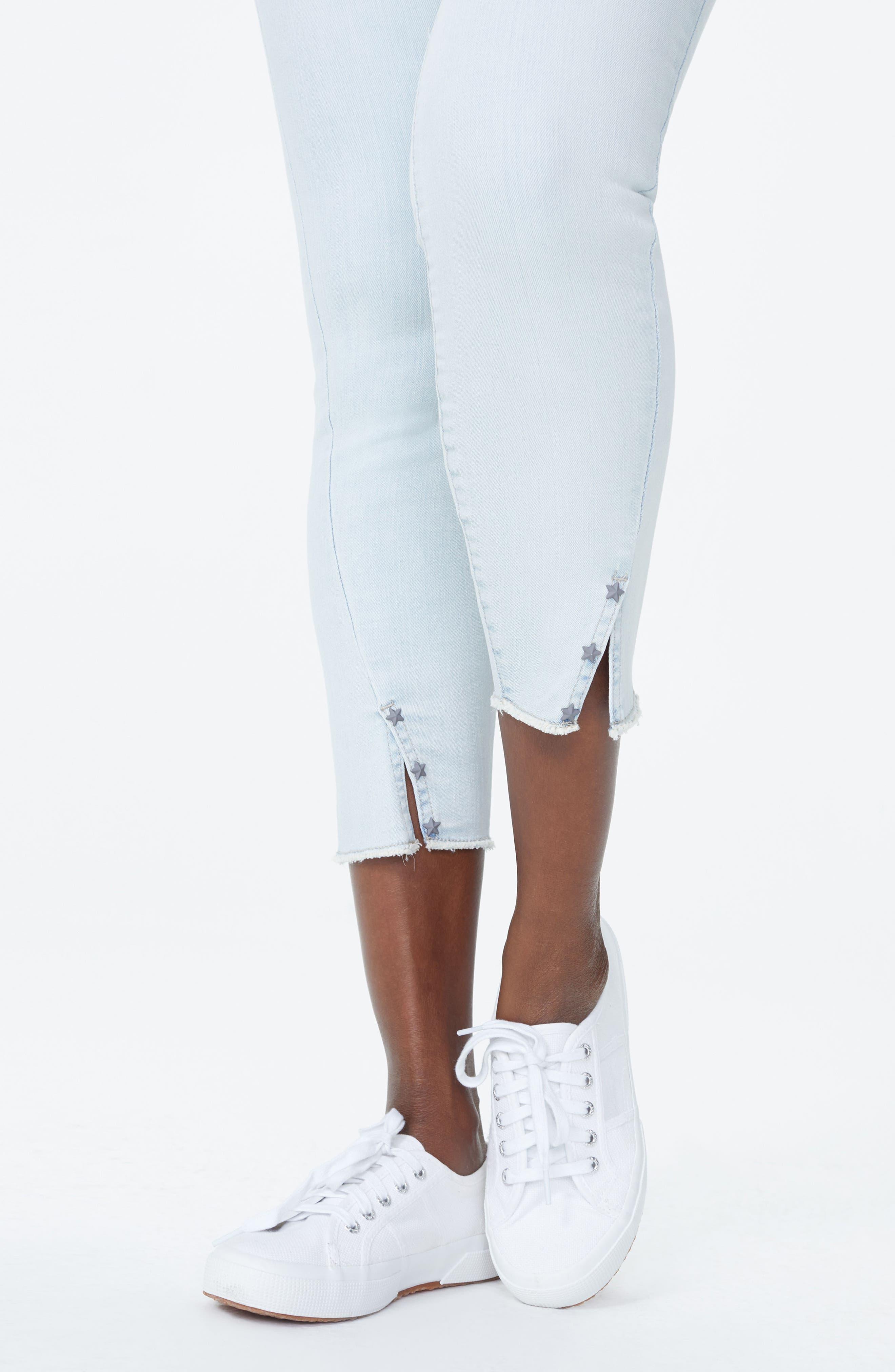 Ami High Waist Twist Seam Stretch Ankle Skinny Jeans,                             Alternate thumbnail 4, color,                             PALM DESERT