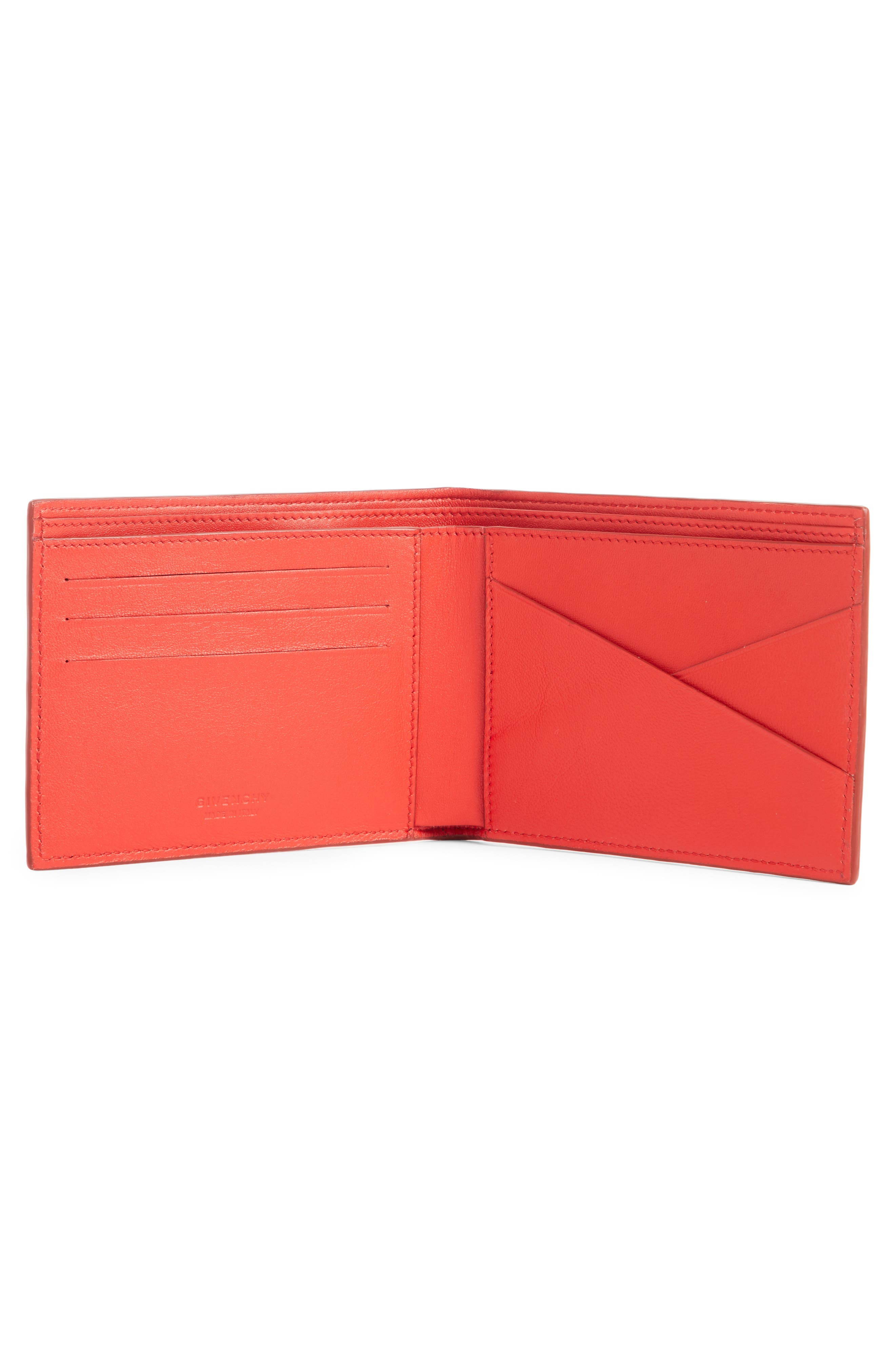 Embossed 4G Leather Bifold Wallet,                             Alternate thumbnail 2, color,                             RED