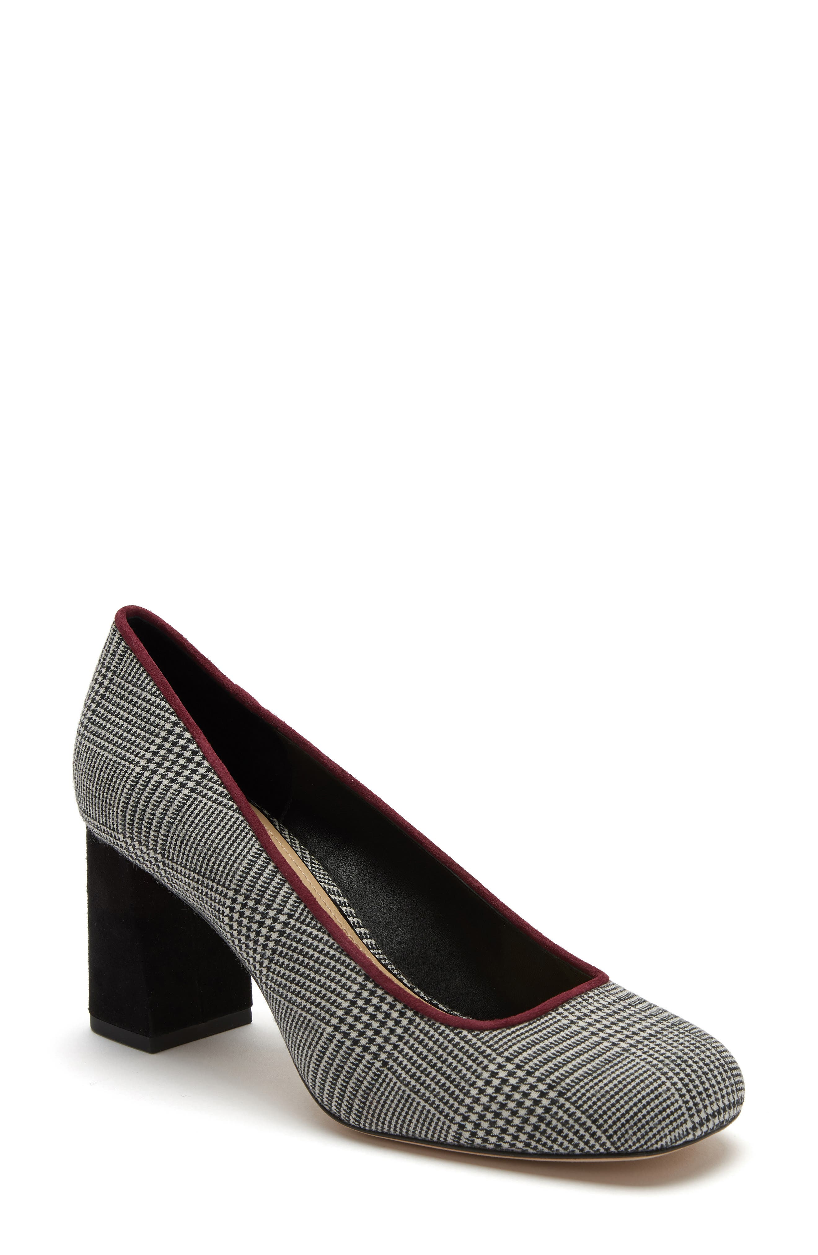 ETIENNE AIGNER Dylan Square Toe Pump in Black/ White Plaid