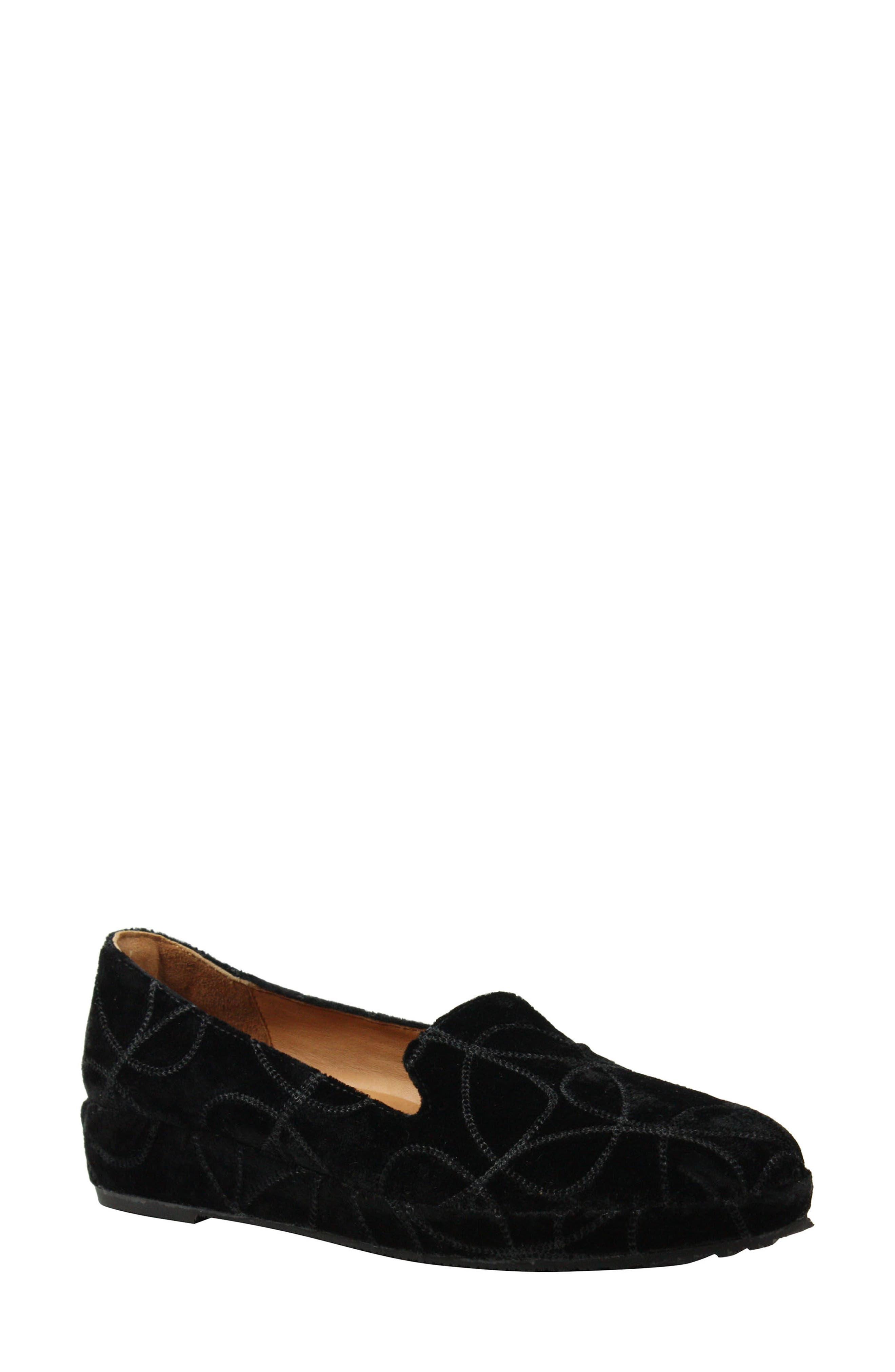 Carsoli Wedge Loafer,                         Main,                         color, BLACK VELVET