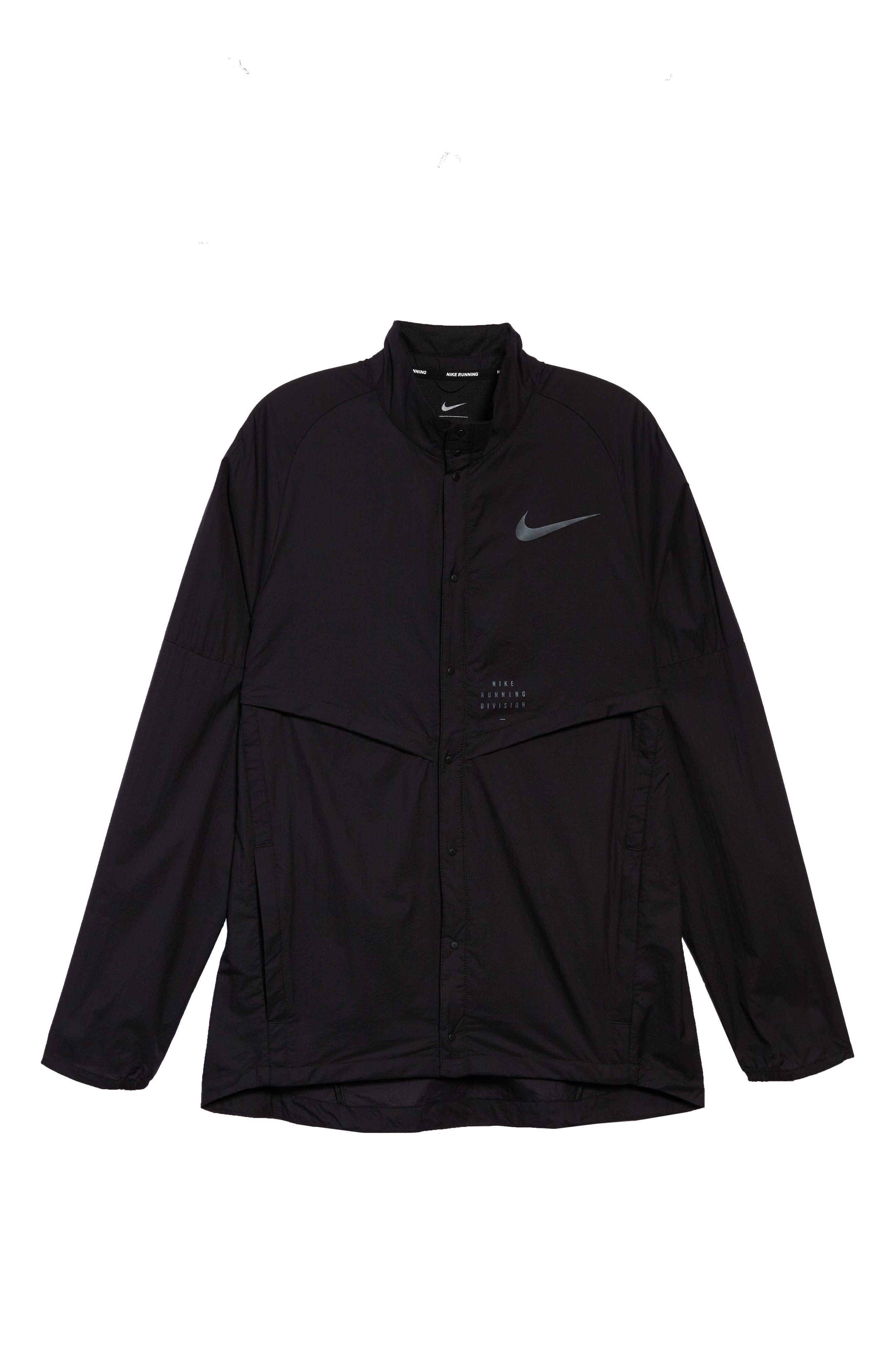 Run Division Jacket,                             Alternate thumbnail 6, color,                             BLACK