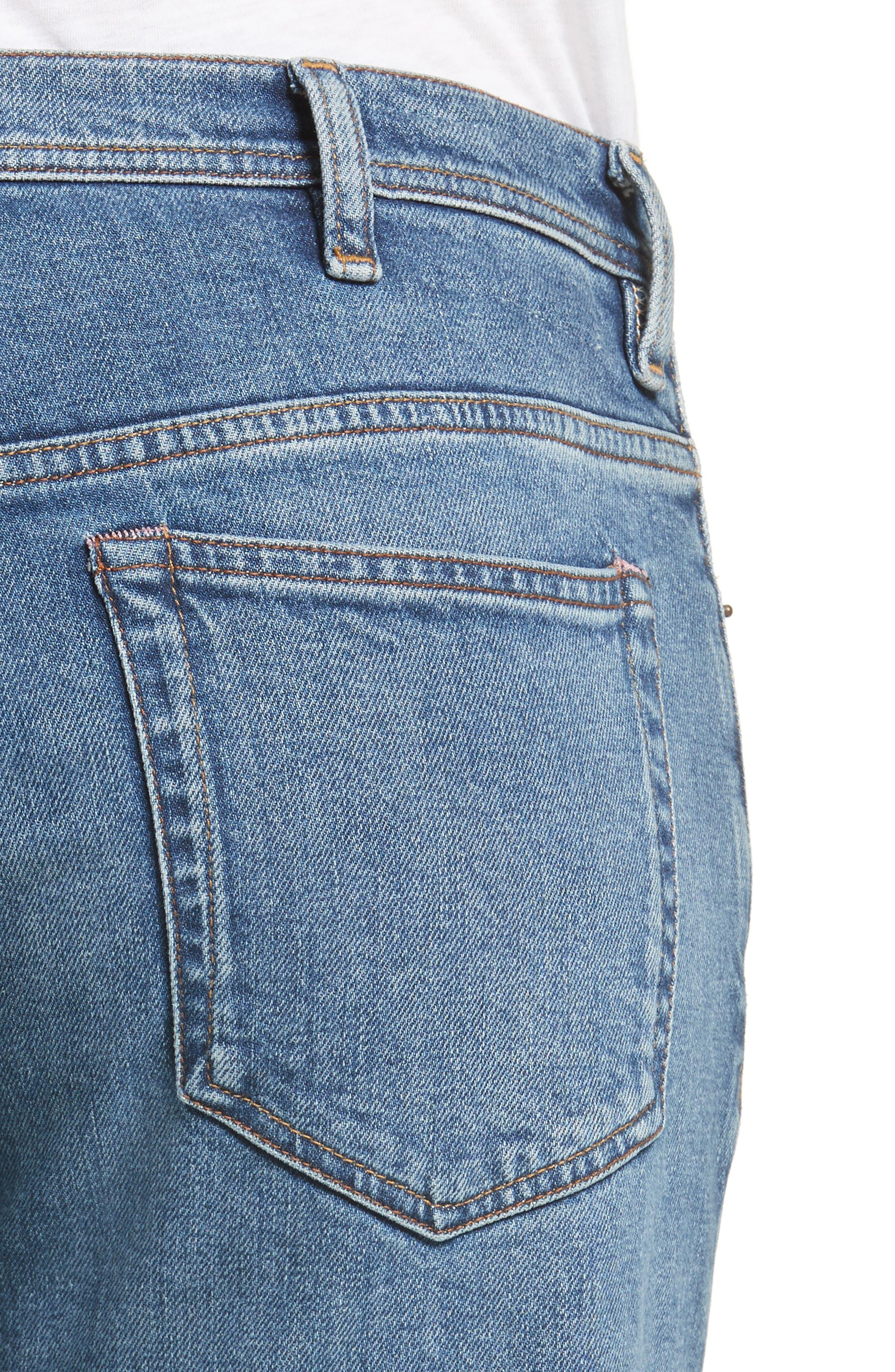 River Slim Taper Jeans,                             Alternate thumbnail 4, color,                             MID BLUE