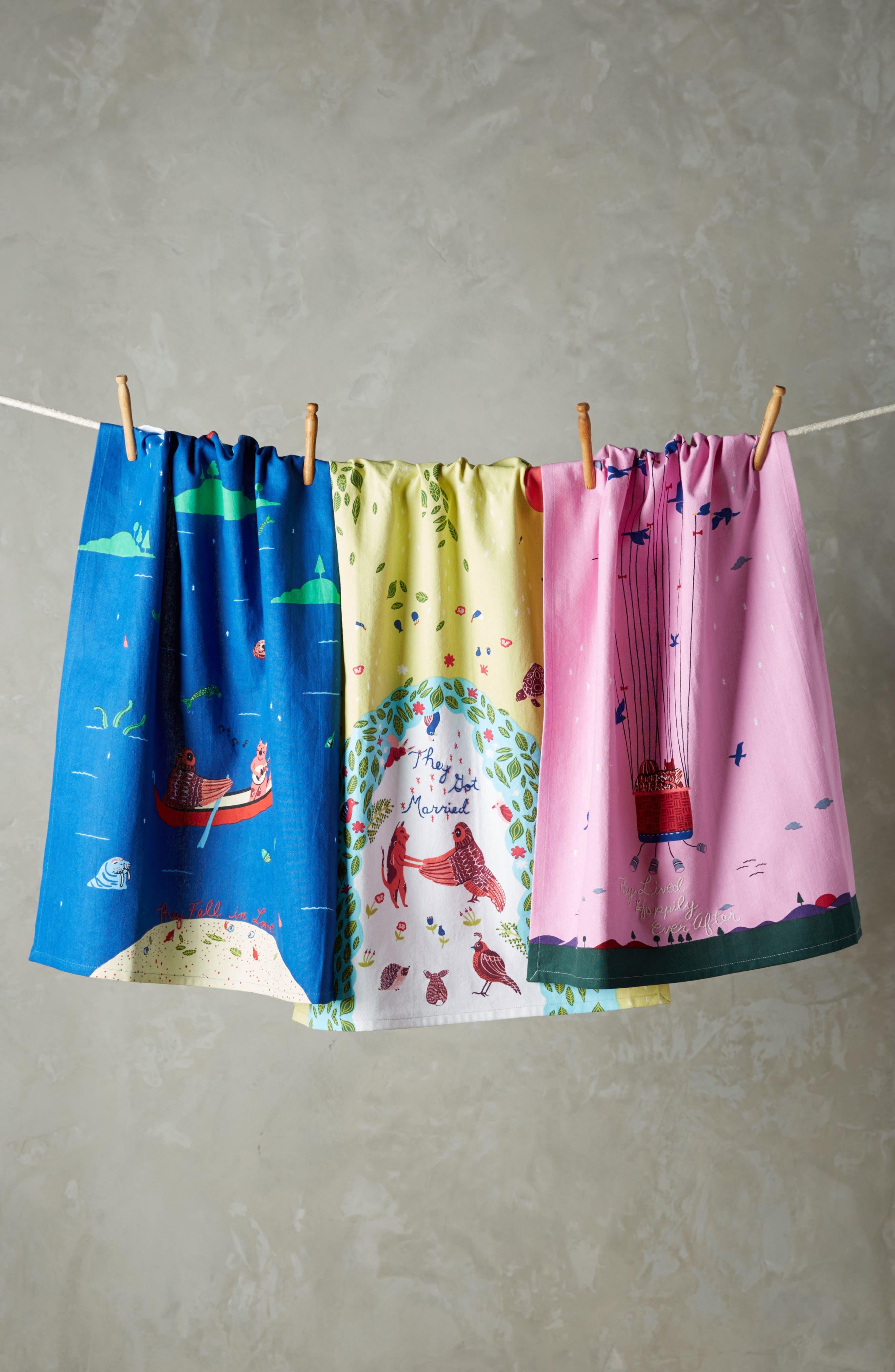 Fairy Tale Set of 3 Tea Towels,                             Main thumbnail 1, color,                             400