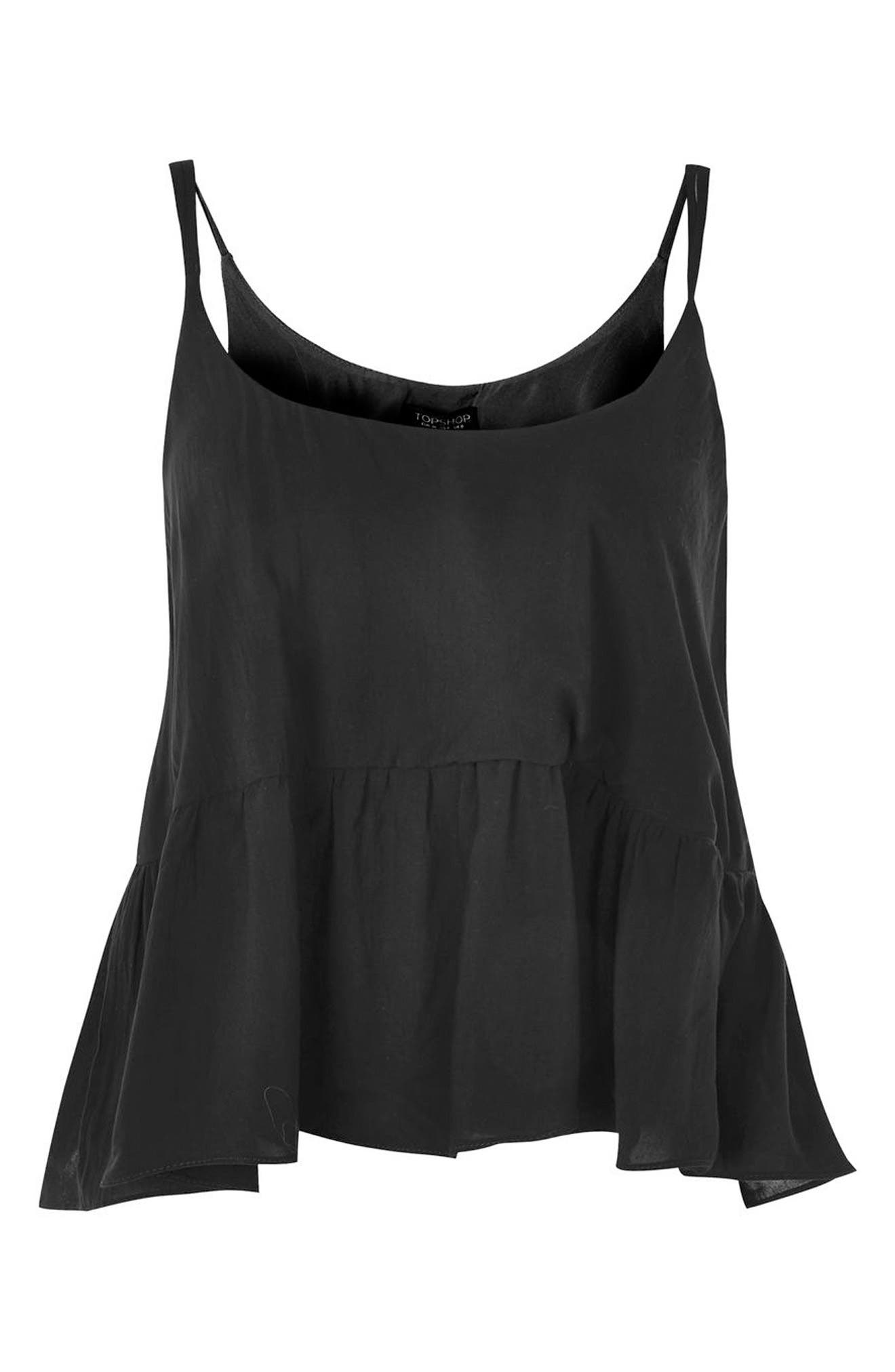 Peplum Camisole,                             Alternate thumbnail 3, color,                             001
